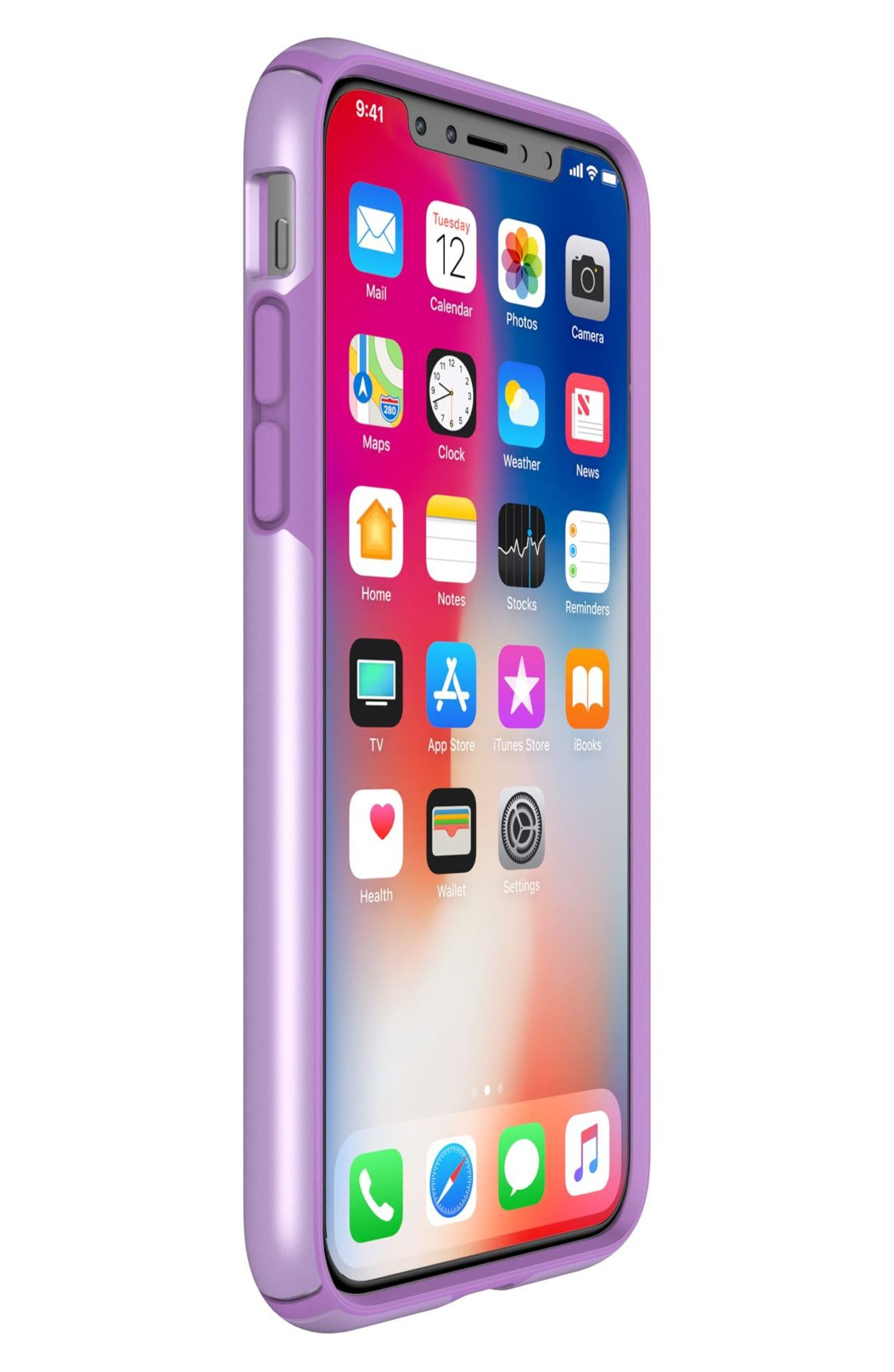 iPhone X Case,                             Alternate thumbnail 6, color,                             Taro Purple Metallic/ Purple