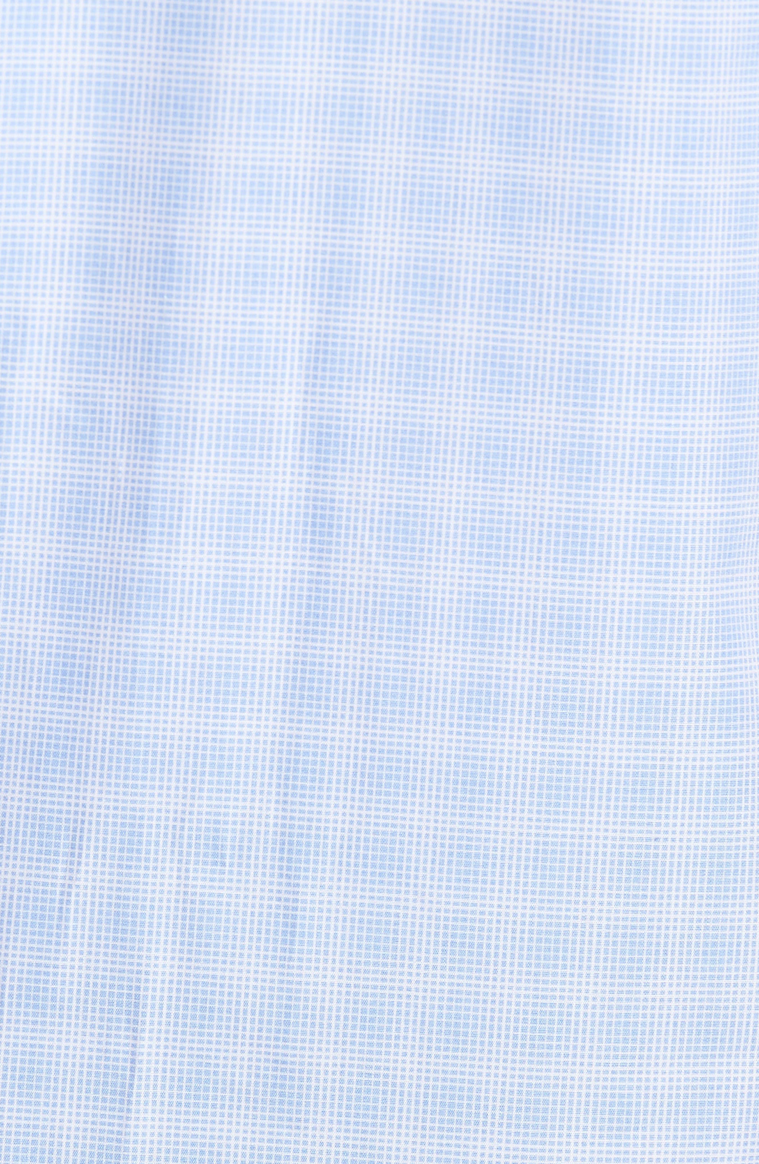 Cecil Check Print Sport Shirt,                             Alternate thumbnail 5, color,                             Lt Blue