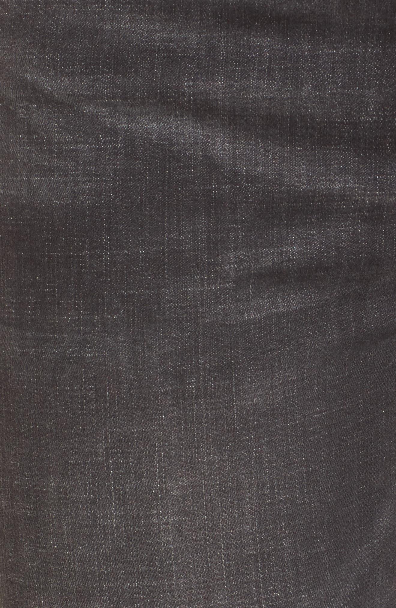 Alternate Image 4  - BLANKNYC Cry Baby Release Hem Skinny Jeans (Shade Parade)