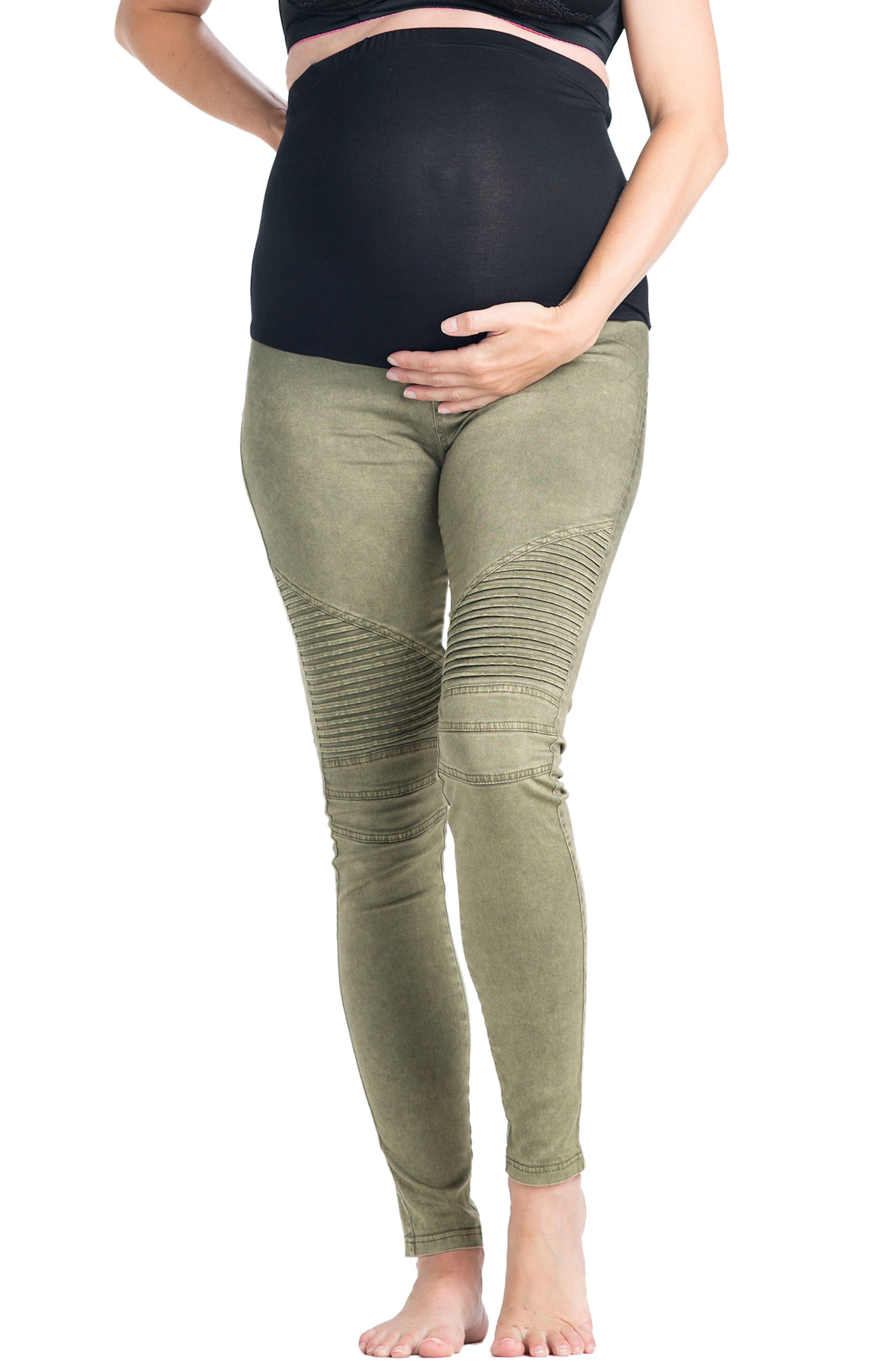 Alternate Image 1 Selected - Preggo Leggings Moto Maternity Leggings