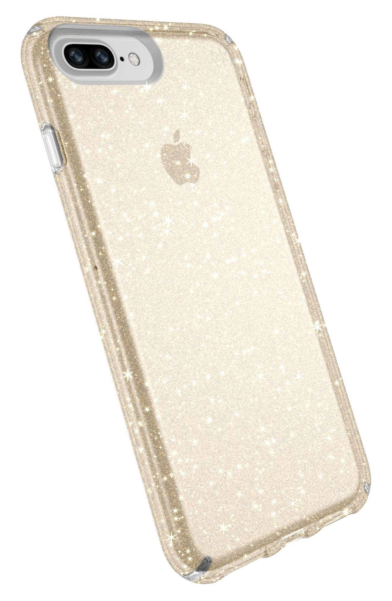 iPhone 6/6s/7/8 Plus Case,                             Alternate thumbnail 4, color,                             Clear With Gold Glitter/ Clear