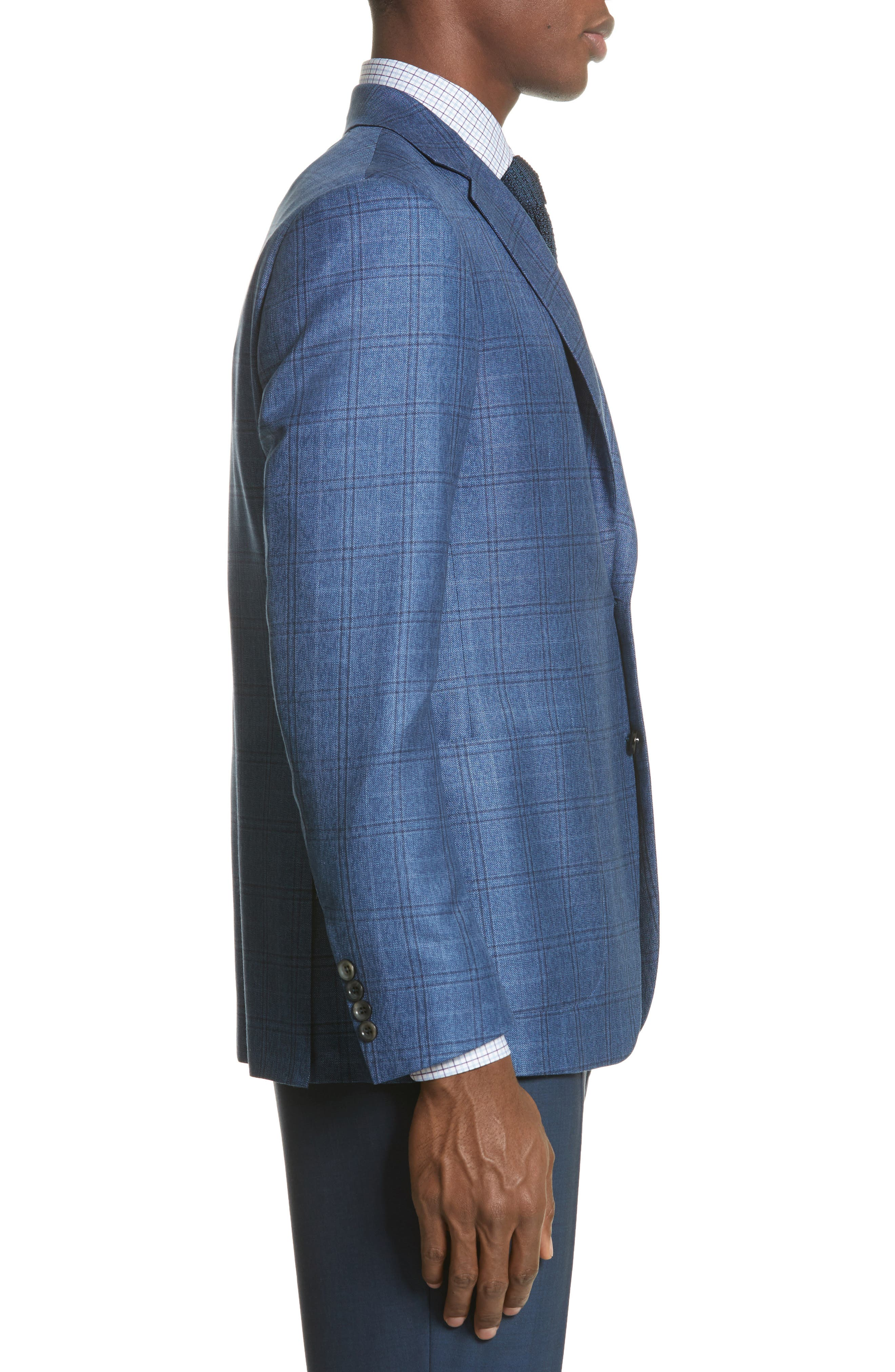 Alternate Image 3  - Canali Classic Fit Plaid Wool Sport Coat