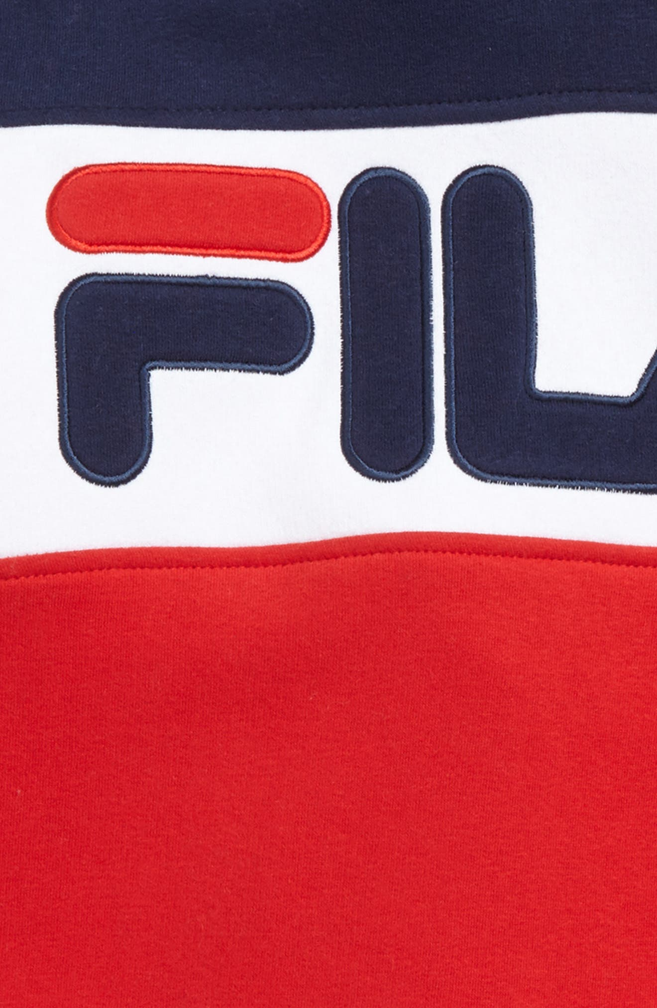 Colorblock Logo Hoodie,                             Alternate thumbnail 2, color,                             Navy/ White/ Red