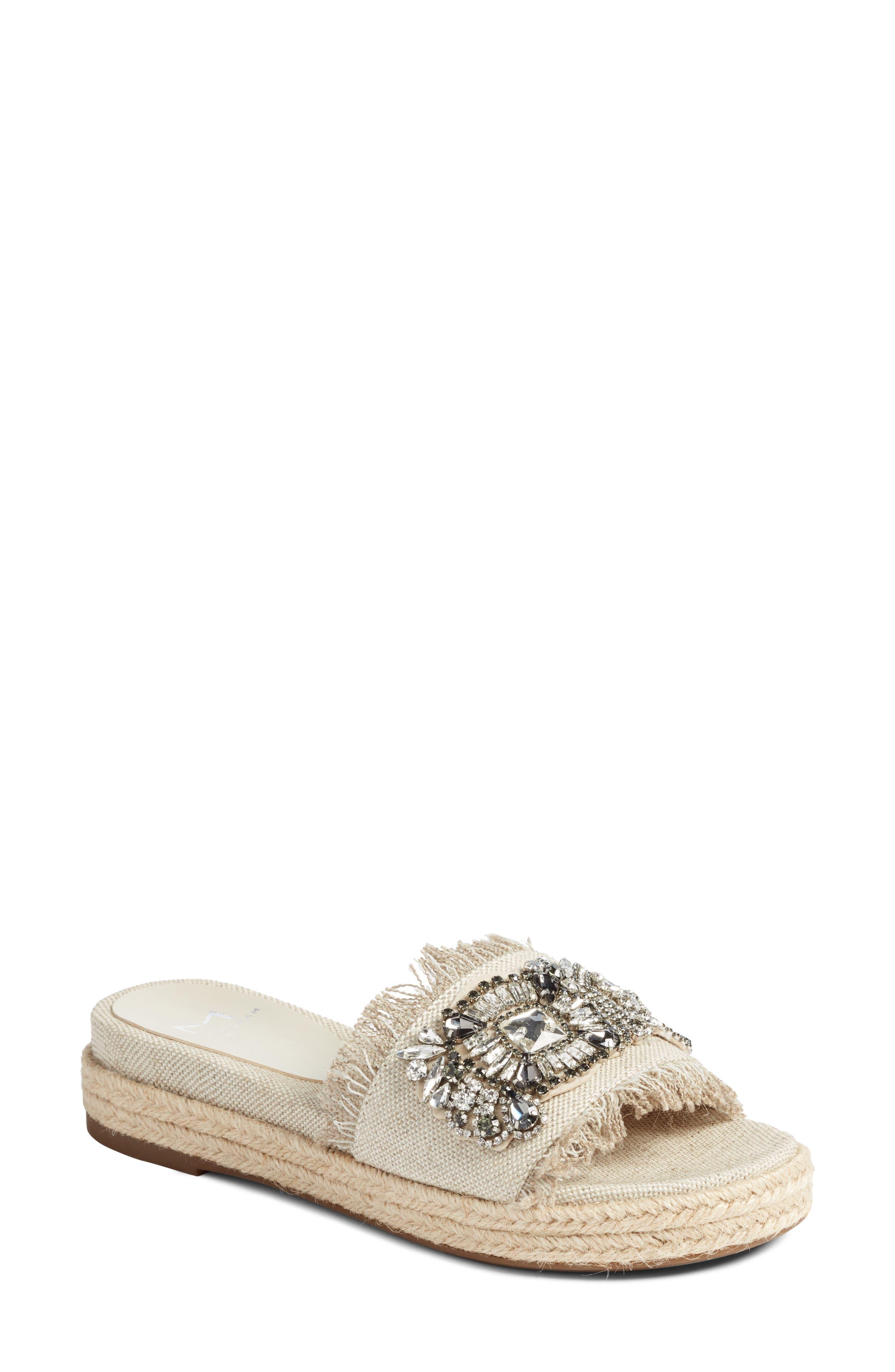 Alternate Image 1 Selected - Marc Fisher LTD Jelly II Embellished Sandal (Women)