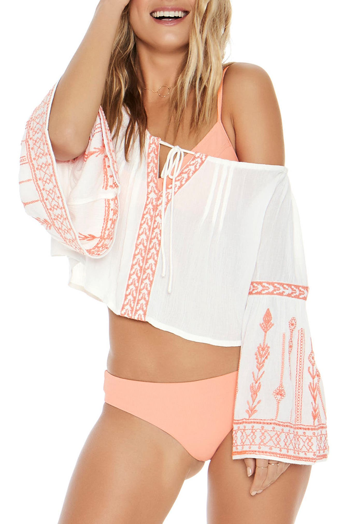 Crawford Cover-Up Top,                             Main thumbnail 1, color,                             Ivory