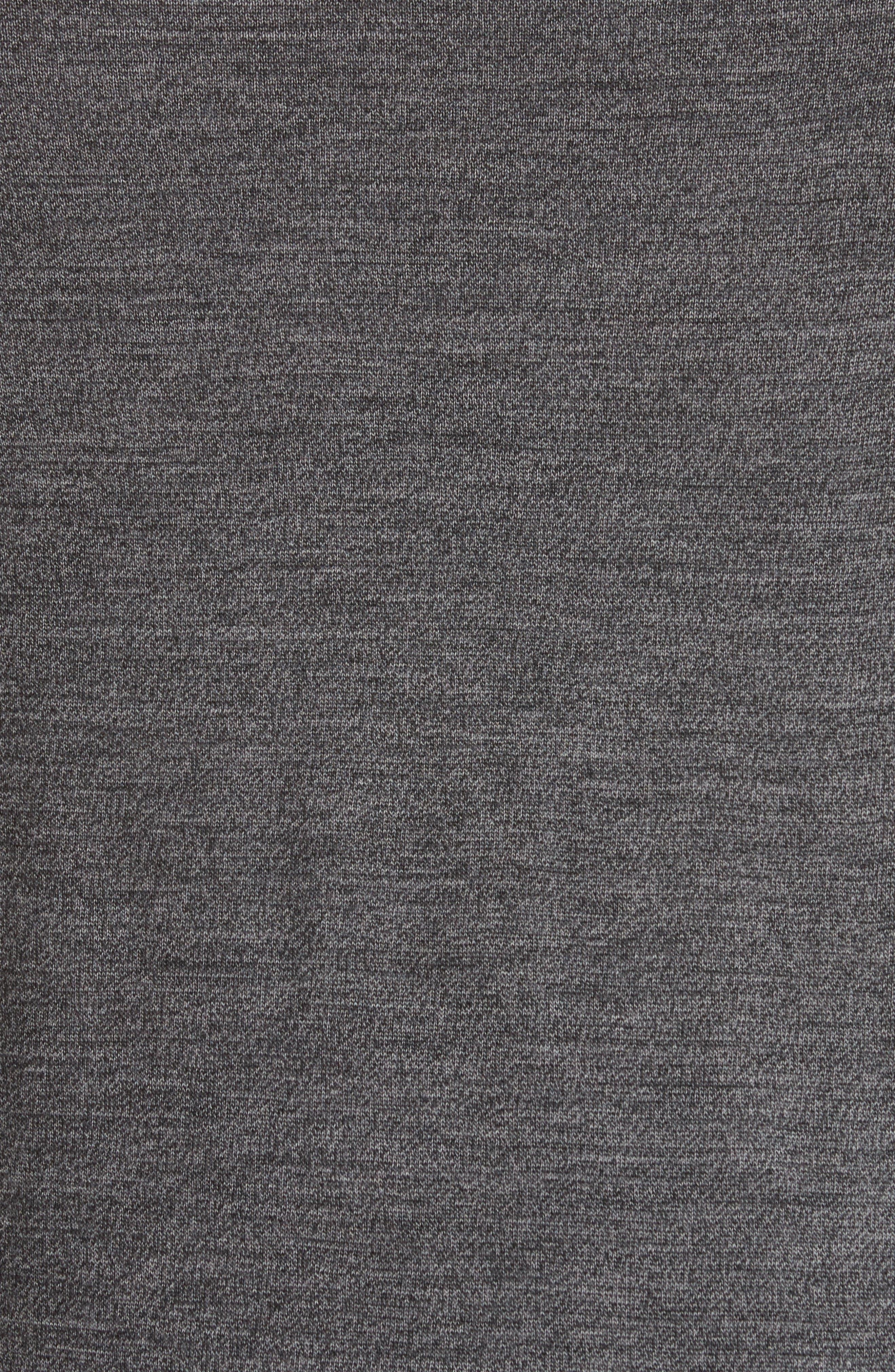 Crewneck Merino Wool Blend Sweater,                             Alternate thumbnail 5, color,                             Grey