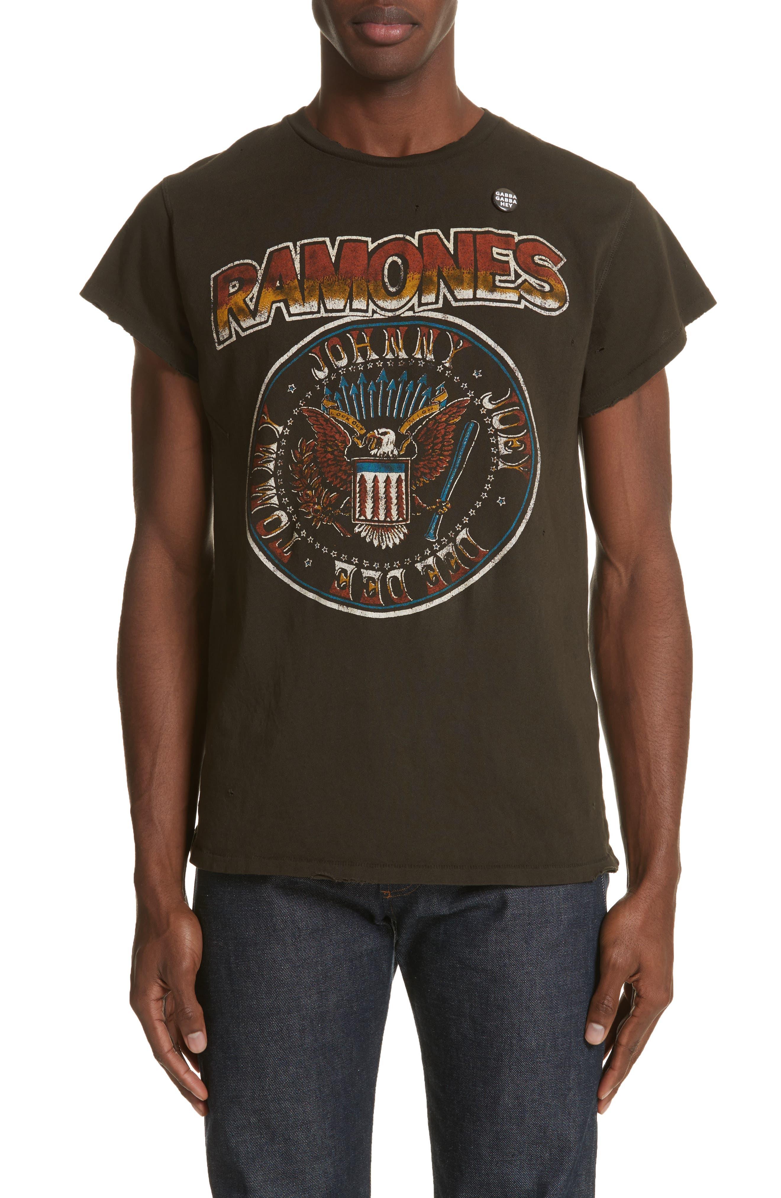 Ramones Graphic T-Shirt,                         Main,                         color, Dirty Black