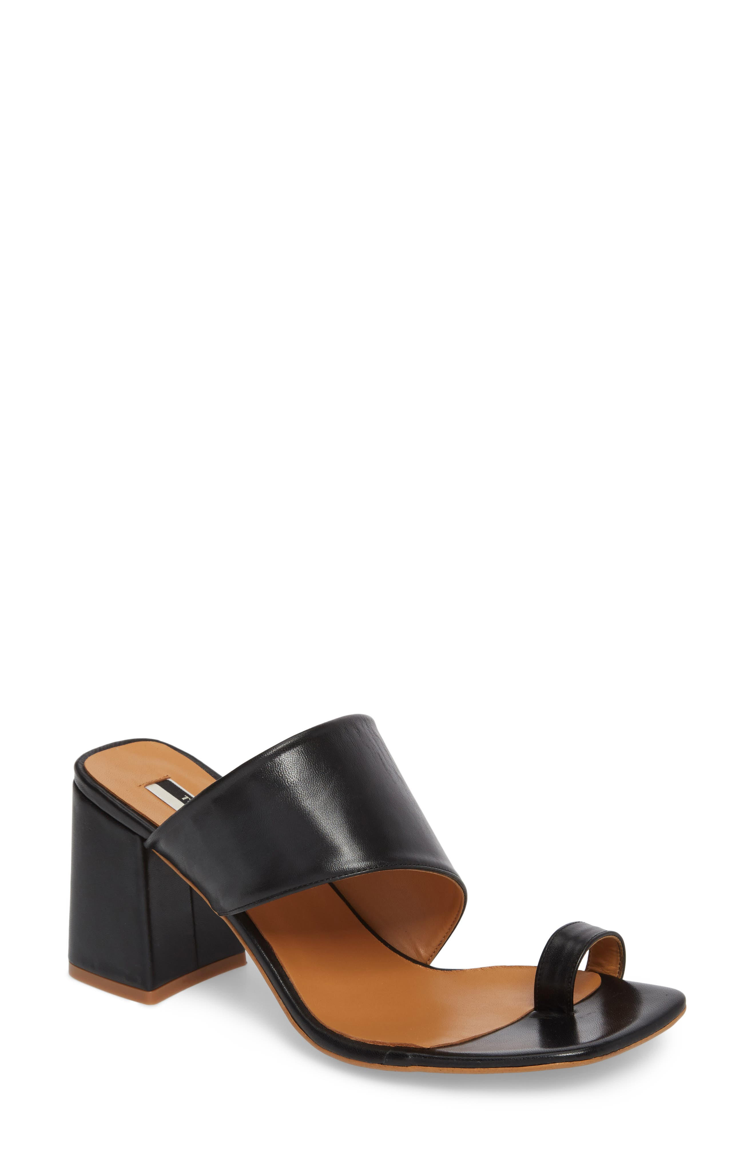 Alternate Image 1 Selected - Topshop Nimble Toe Loop Slide Sandal (Women)