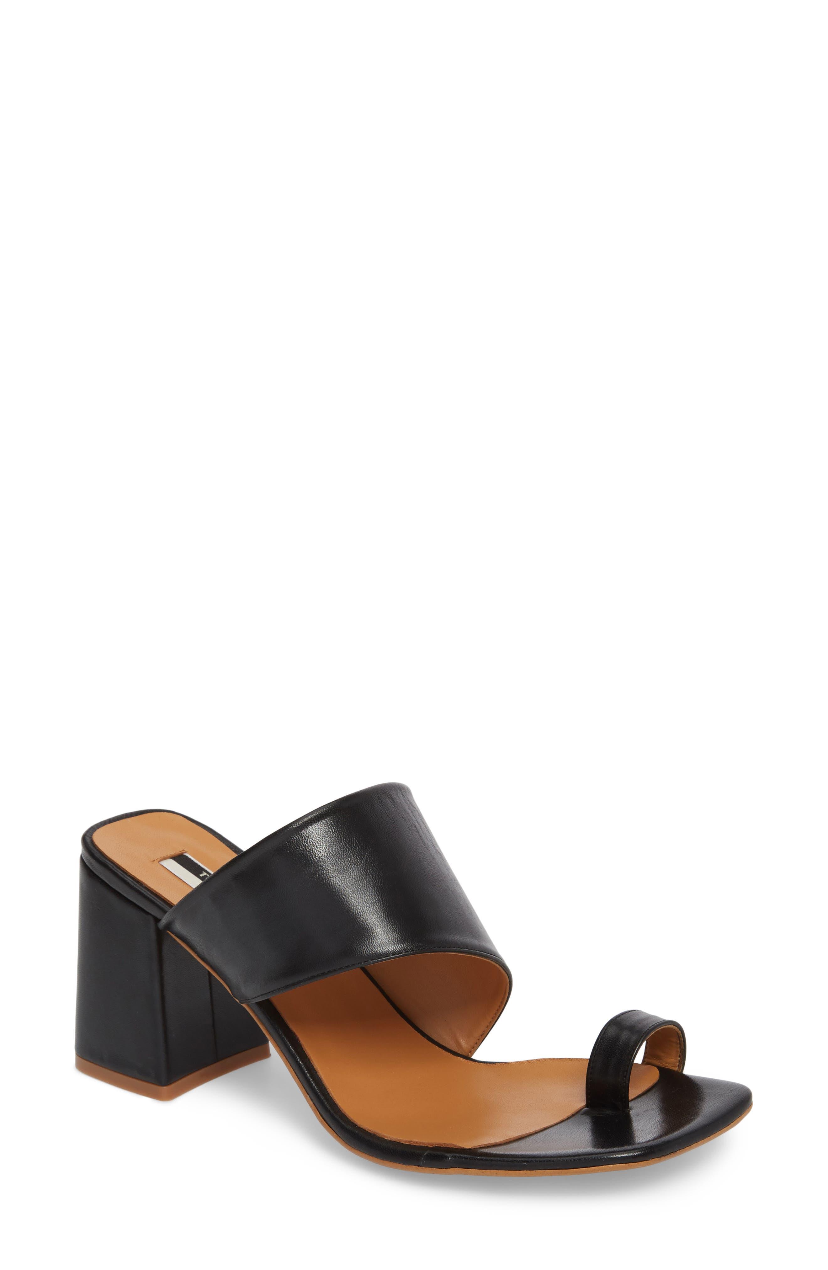 Nimble Toe Loop Slide Sandal,                             Main thumbnail 1, color,                             Black