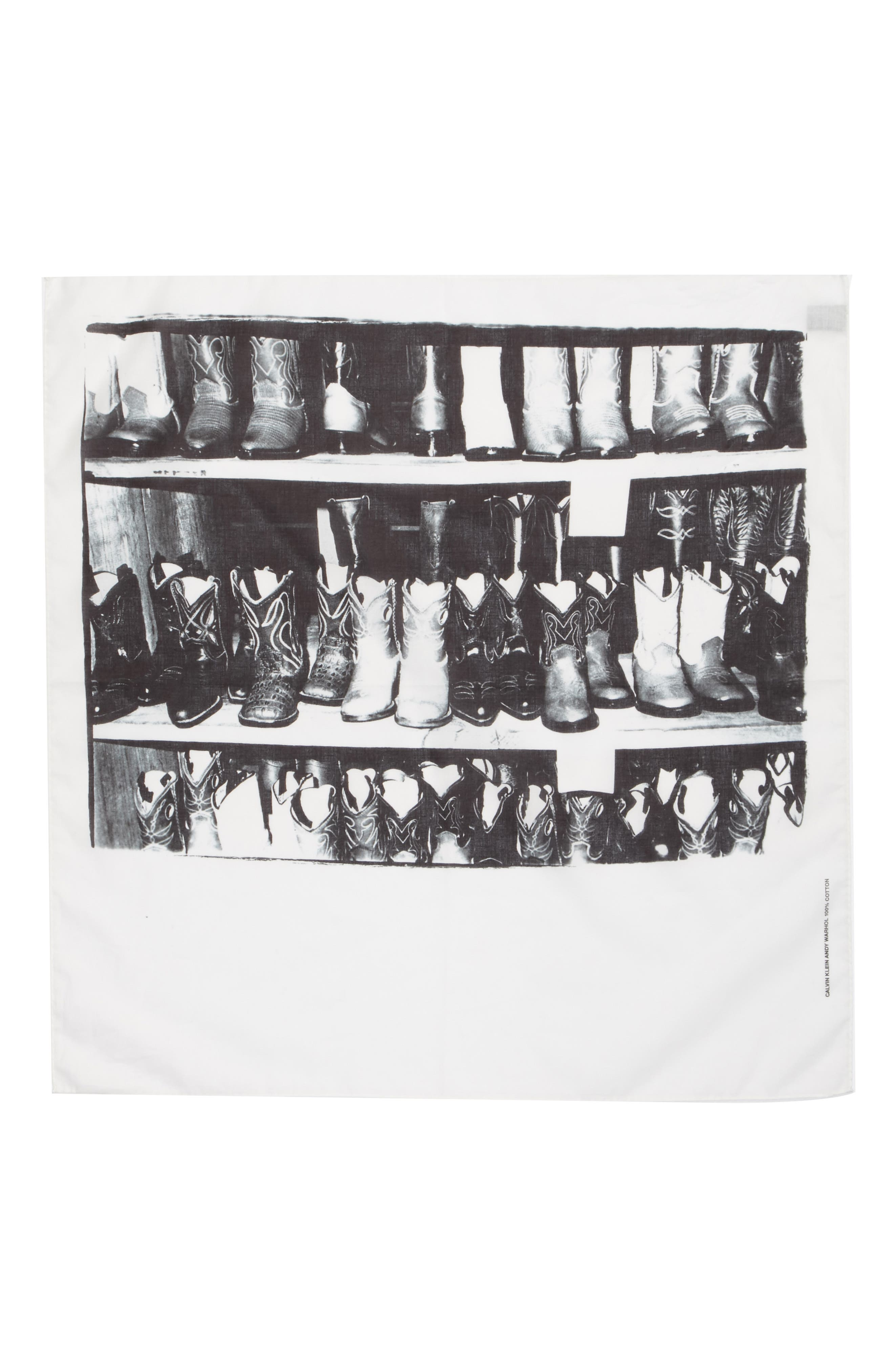 x Andy Warhol Foundation Boots Scarf,                         Main,                         color, Black/ White