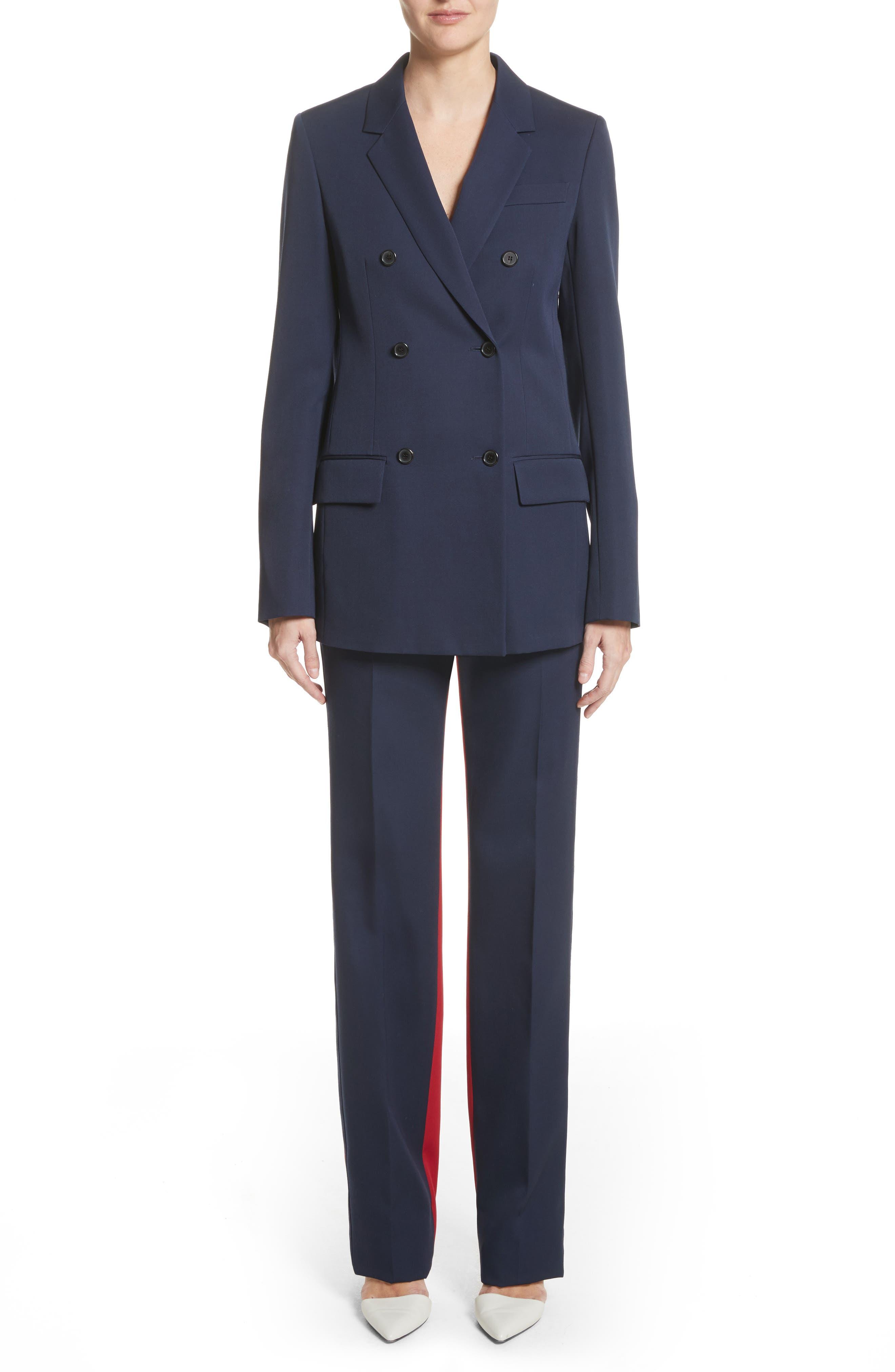 Alternate Image 2  - CALVIN KLEIN 205W39NYC Colorblock Wool Trousers