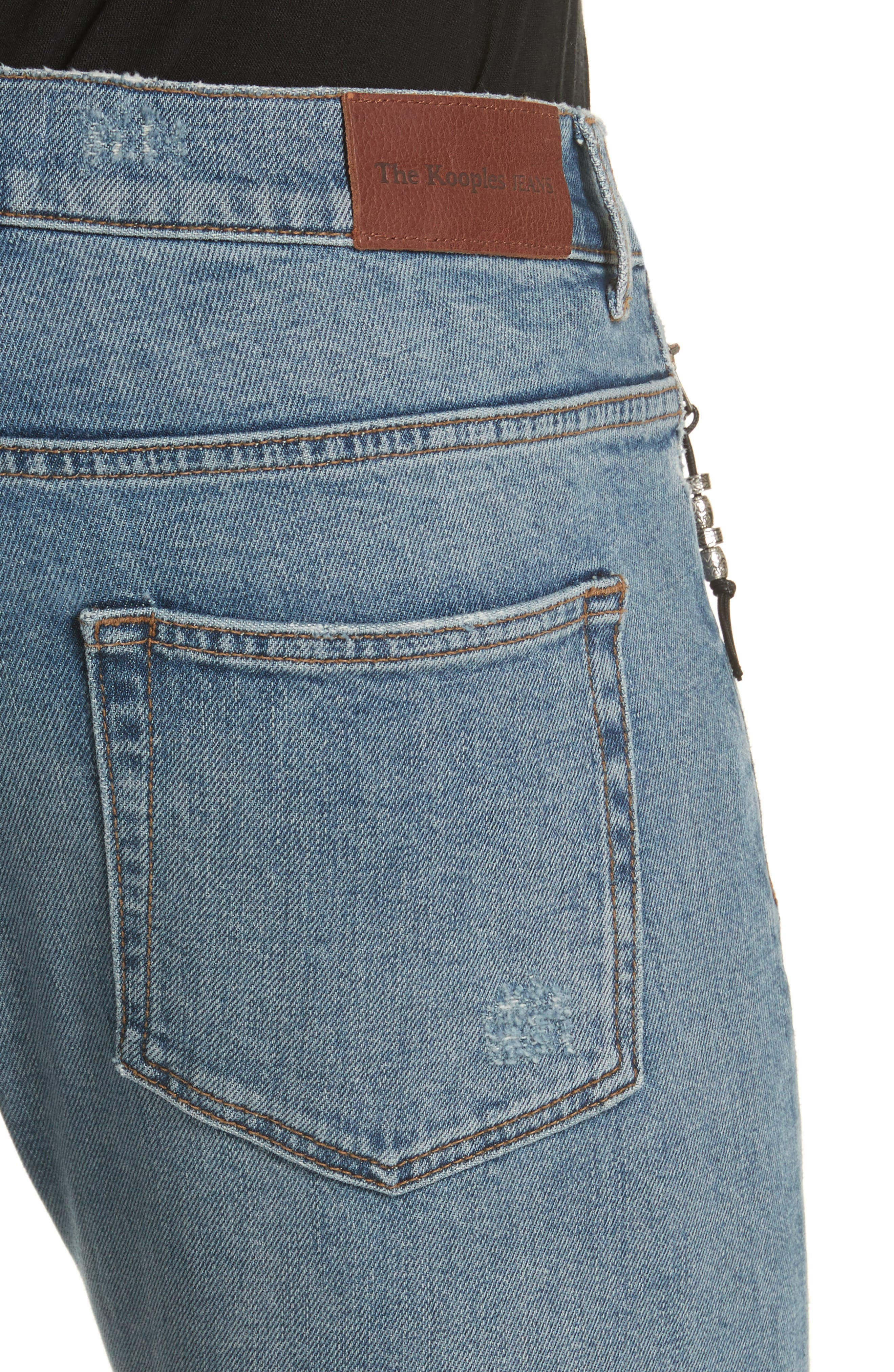 Destroyed Skinny Fit Jeans,                             Alternate thumbnail 4, color,                             Blu 88