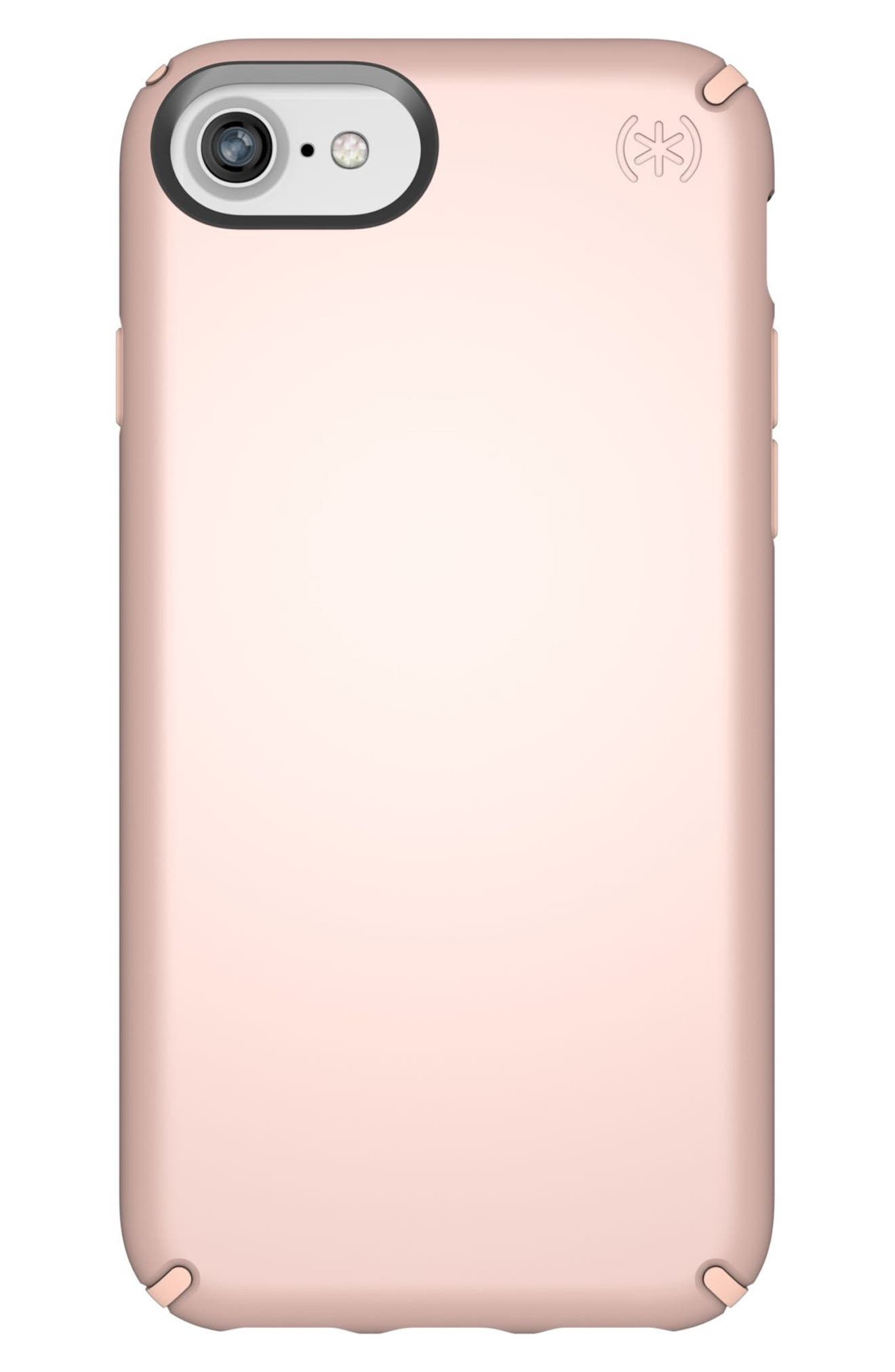 iPhone 6/6s/7/8 Case,                         Main,                         color, Rose Gold Metallic/ Peach