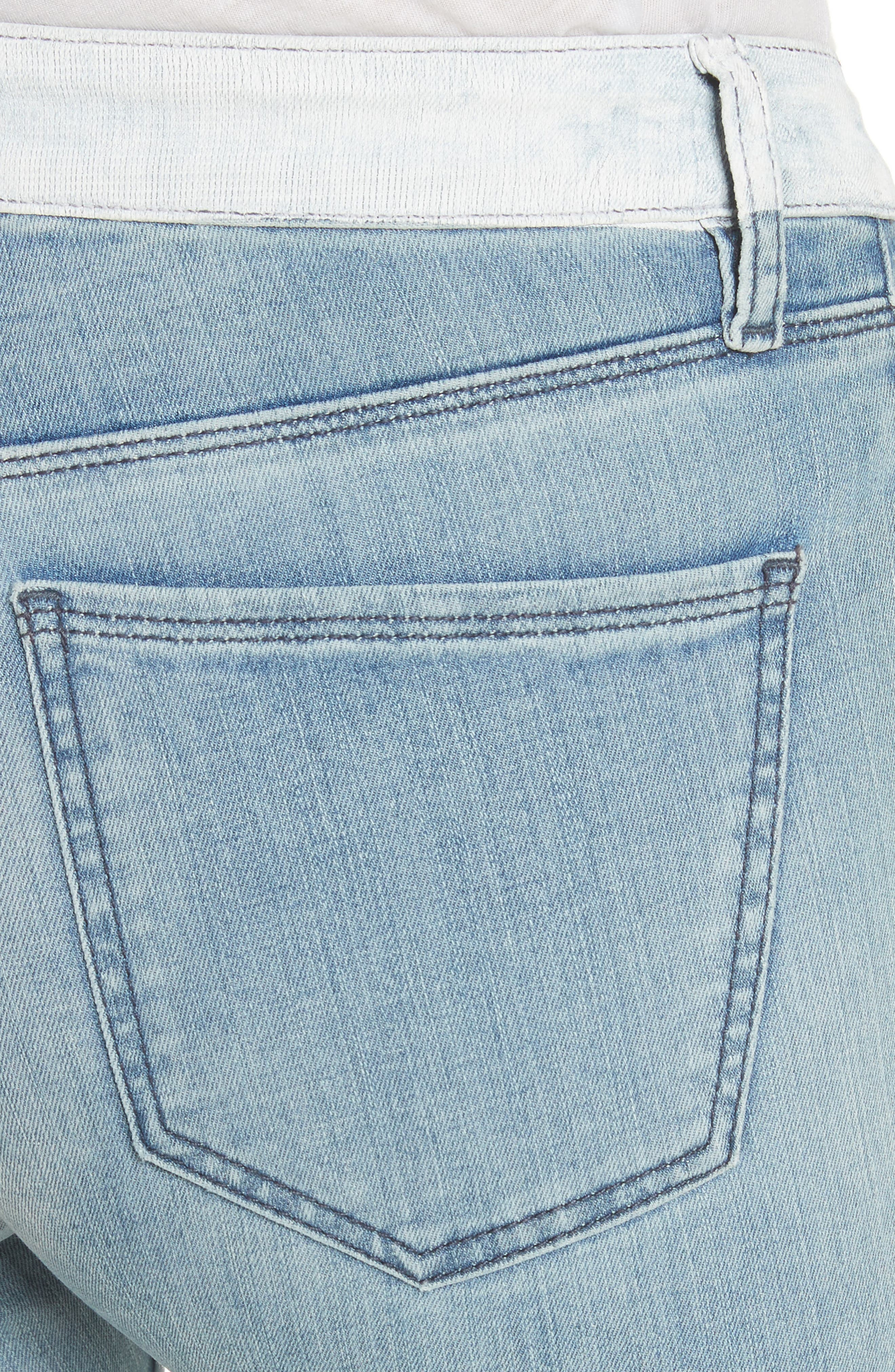 Alternate Image 4  - BROCKENBOW Emma Coated Skinny Jeans (Running Blue)