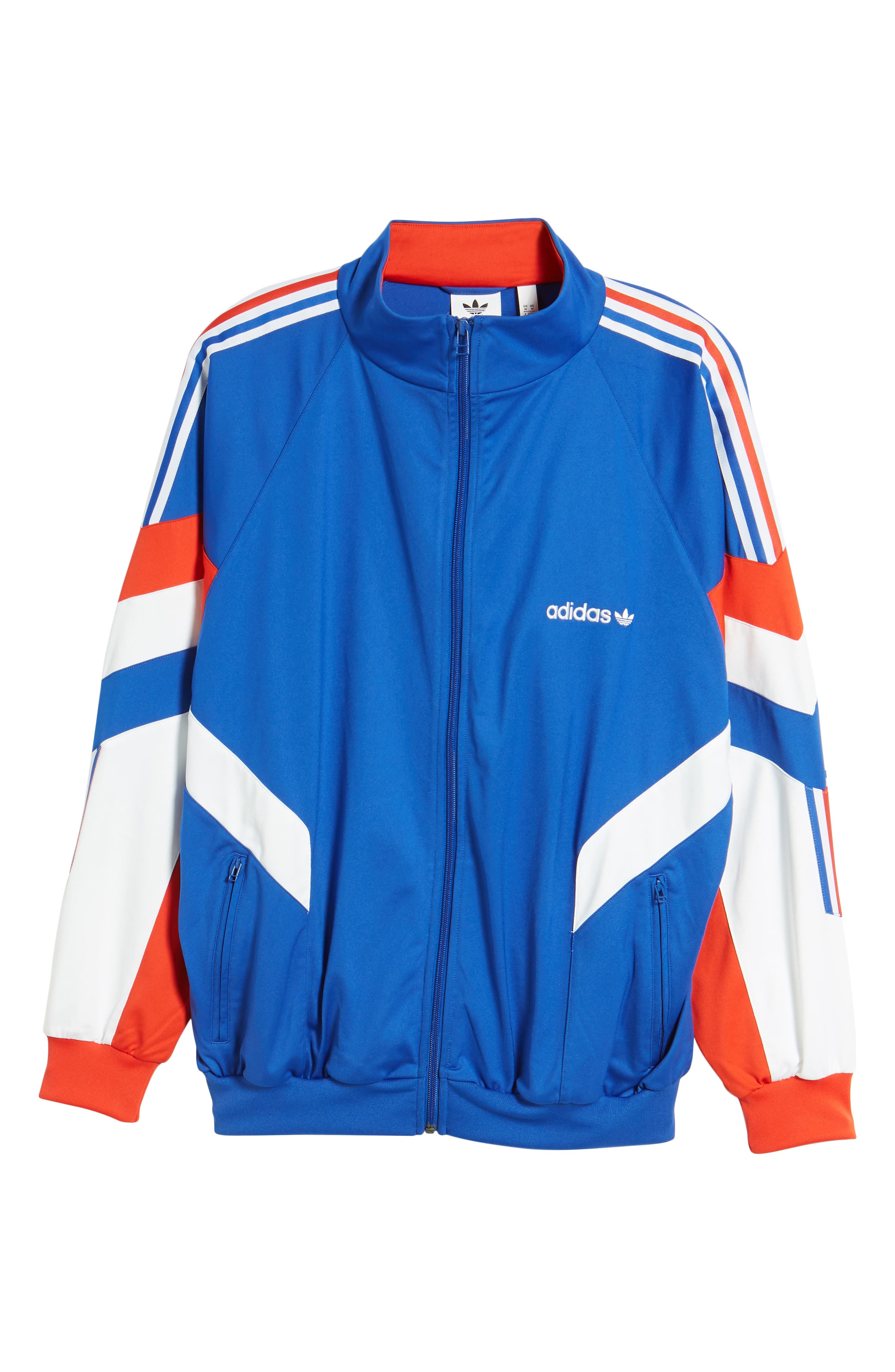 Aloxe Track Jacket,                             Alternate thumbnail 5, color,                             Bold Blue/ White