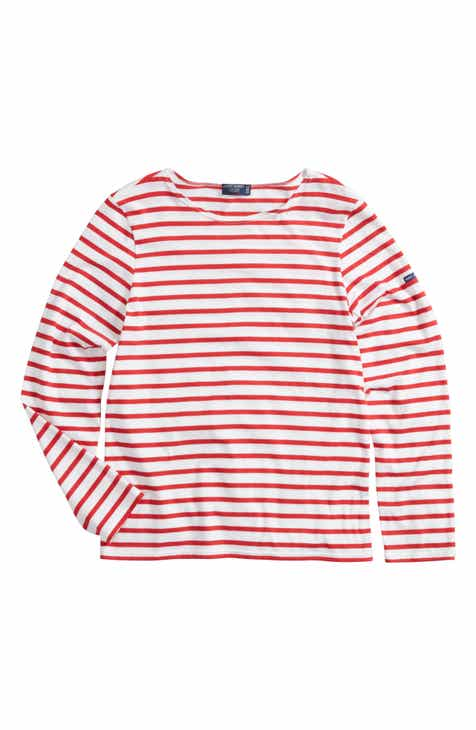 6f6318f3493 Saint James Minquiers Moderne Striped Sailor Shirt