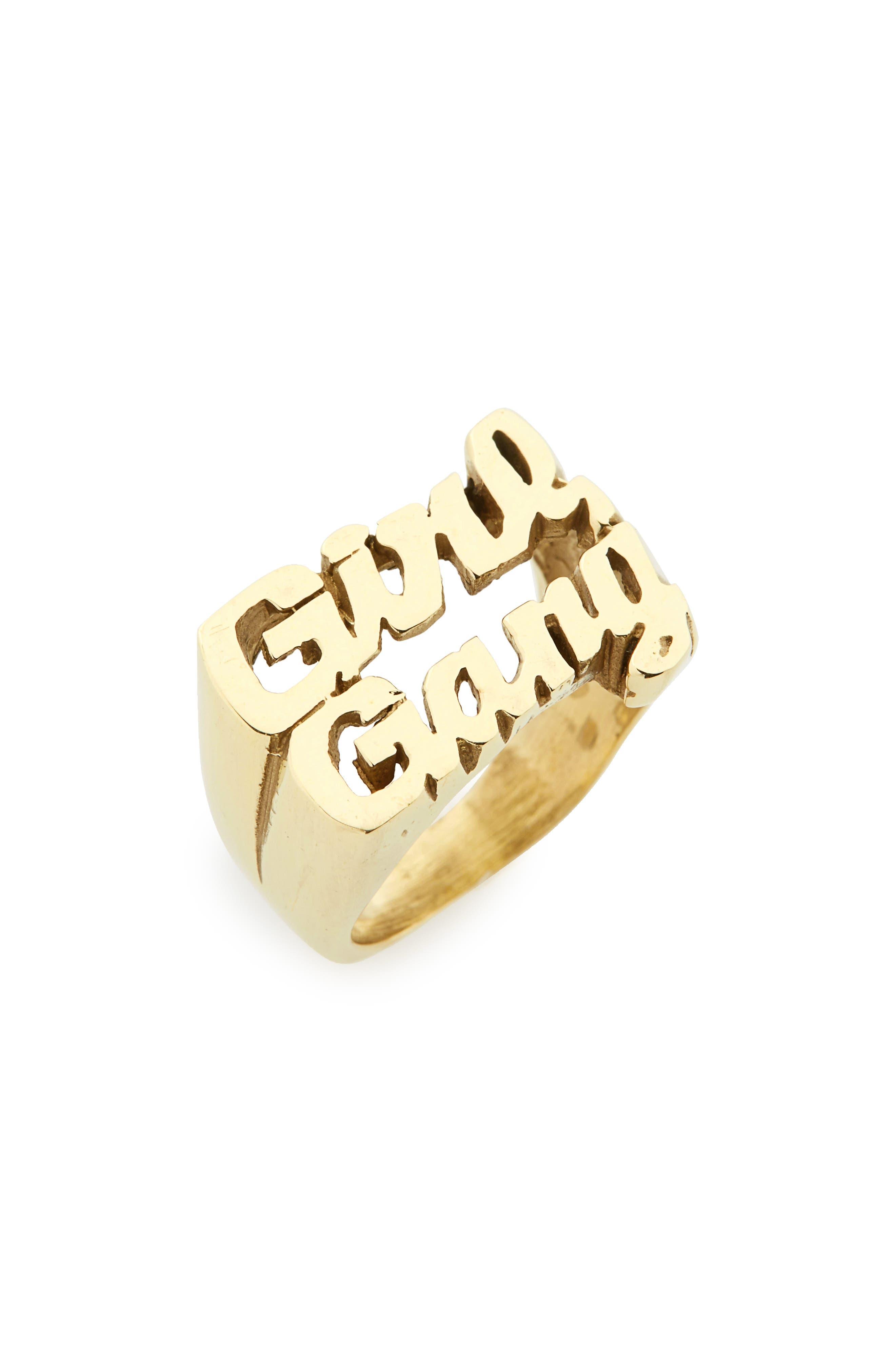 Girl Gang Ring,                         Main,                         color, Gold