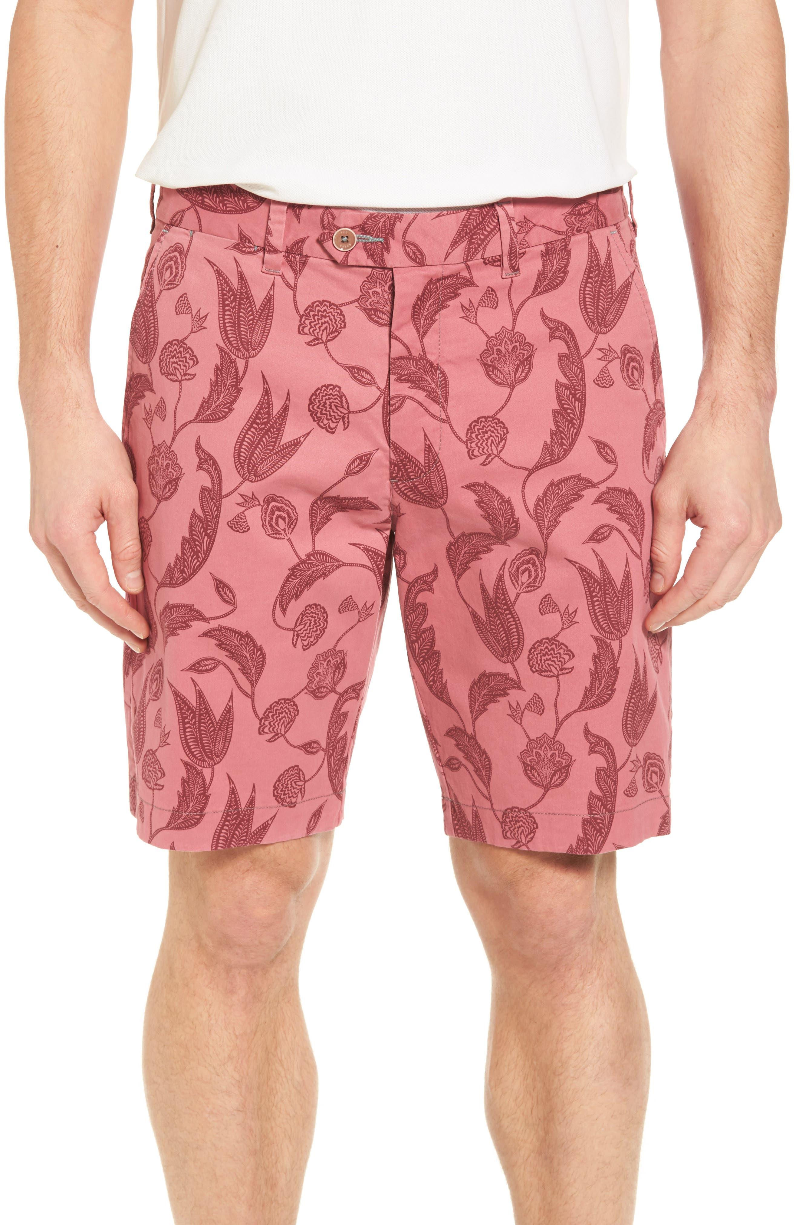 Uniprin Trim Fit Floral Golf Shorts,                         Main,                         color, Purple