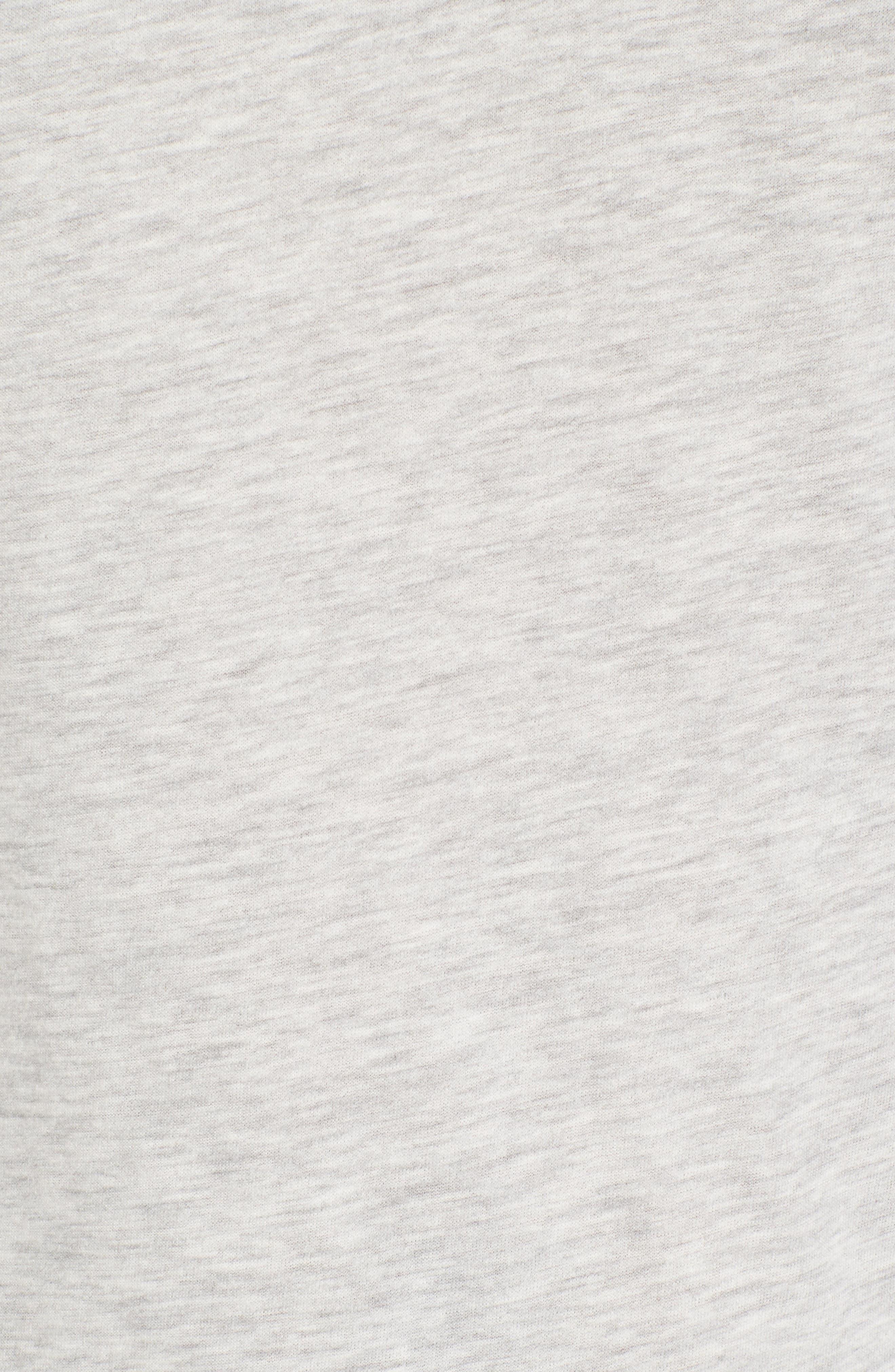 Club Nomade Soft Granddad T-Shirt,                             Alternate thumbnail 5, color,                             Grey Melange