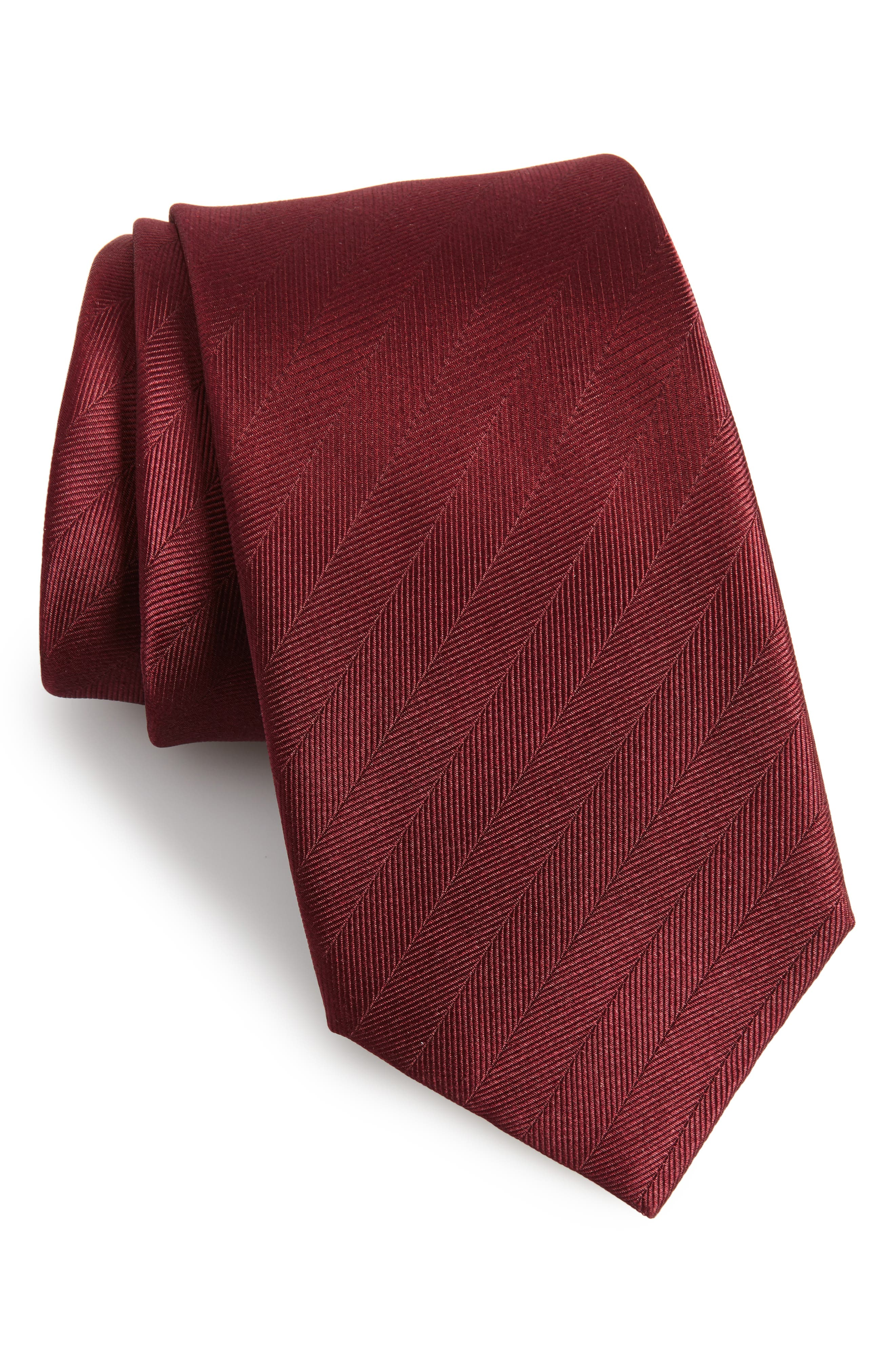 The Tie Bar Herringbone Silk Tie (X-Long)