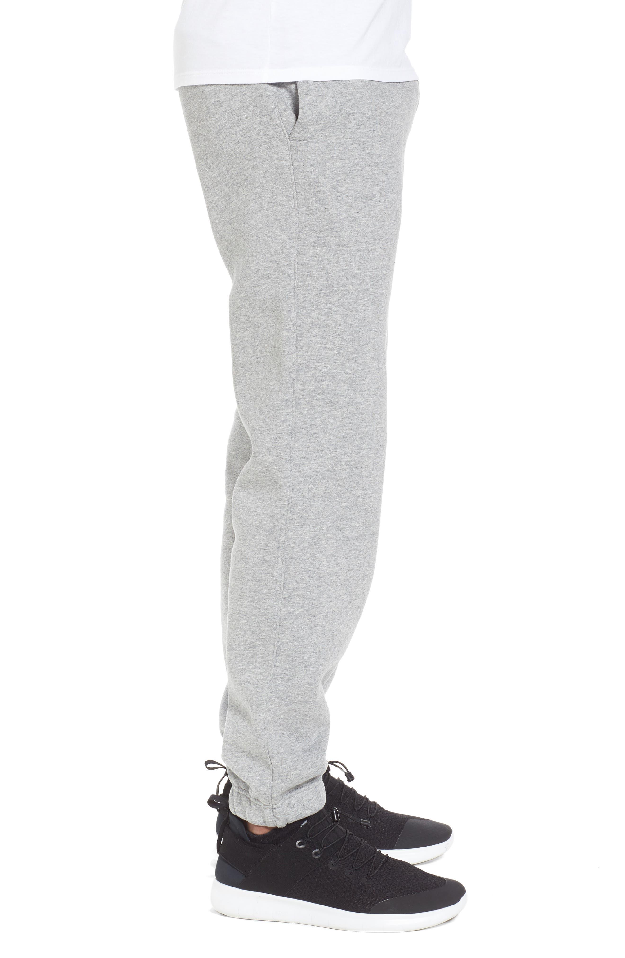 Icon Fleece Pants,                             Alternate thumbnail 3, color,                             Dark Steel Grey
