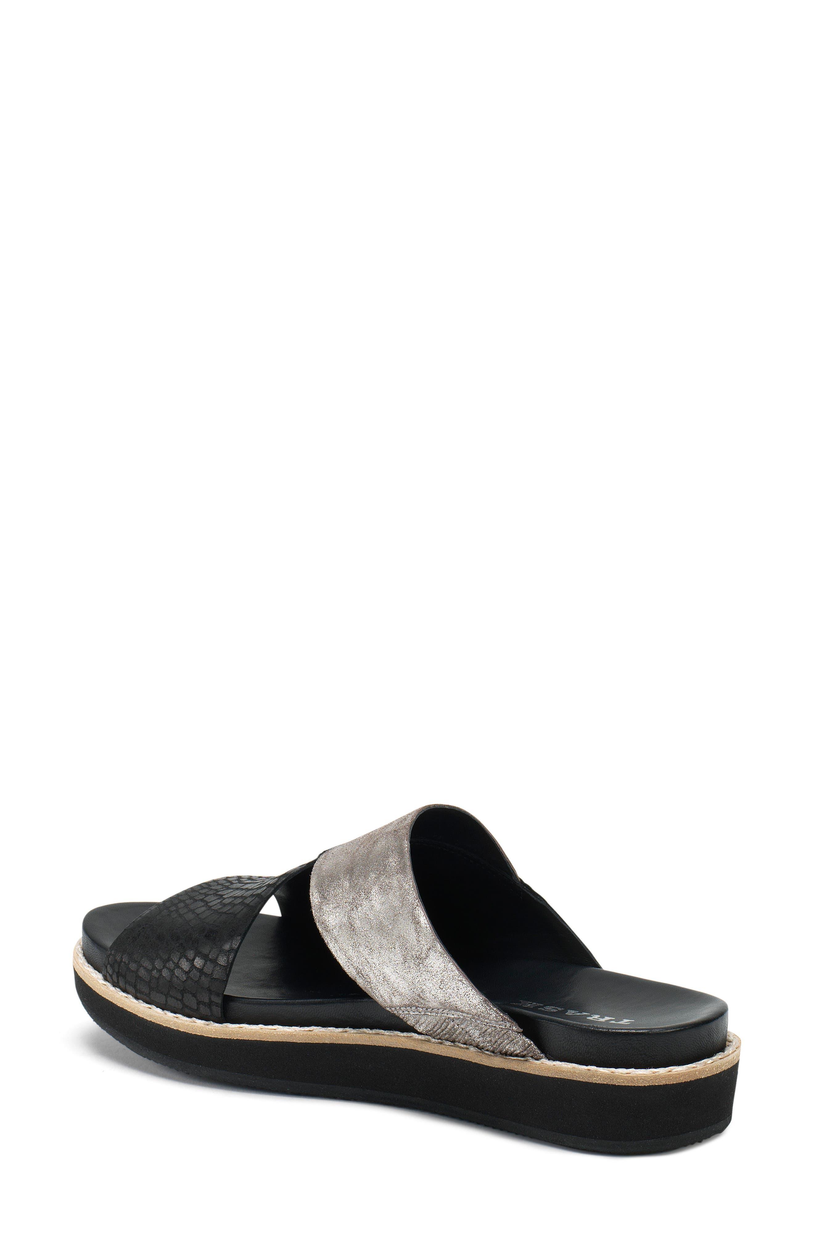 Codi Sandal,                             Alternate thumbnail 2, color,                             Black Embossed Leather