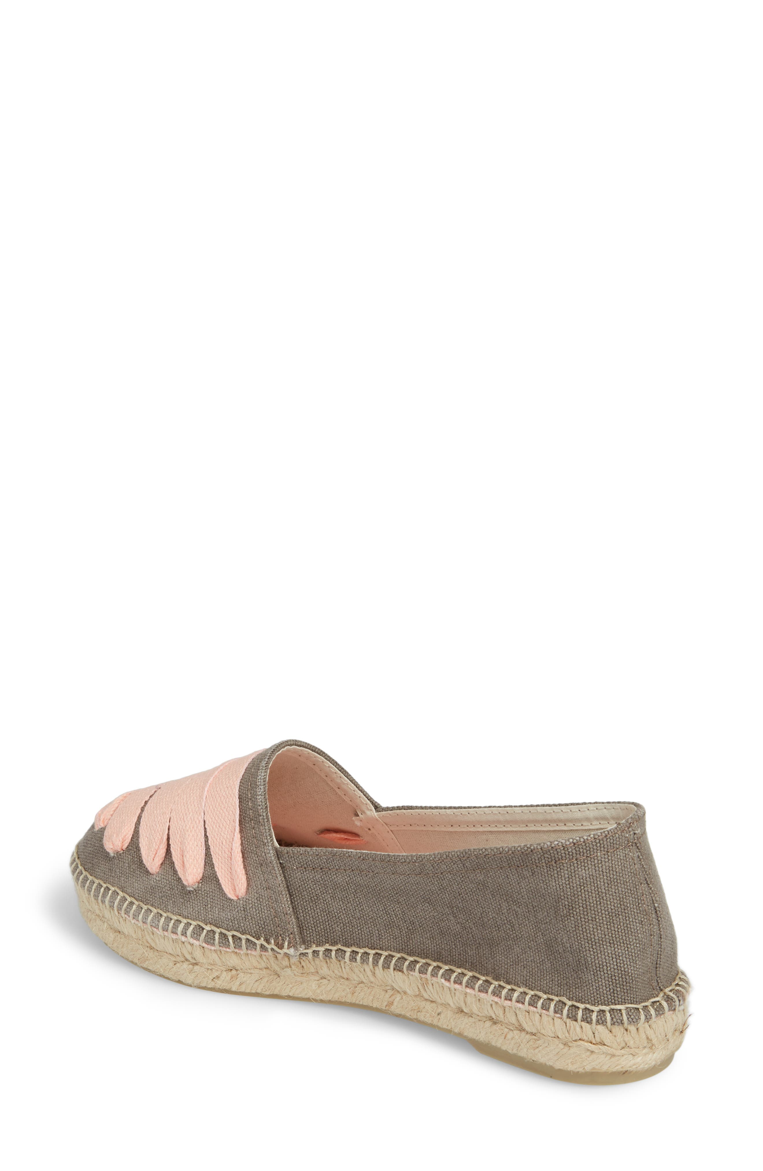 Rubi Espadrille Flat,                             Alternate thumbnail 2, color,                             Gris/ Rosa Fabric