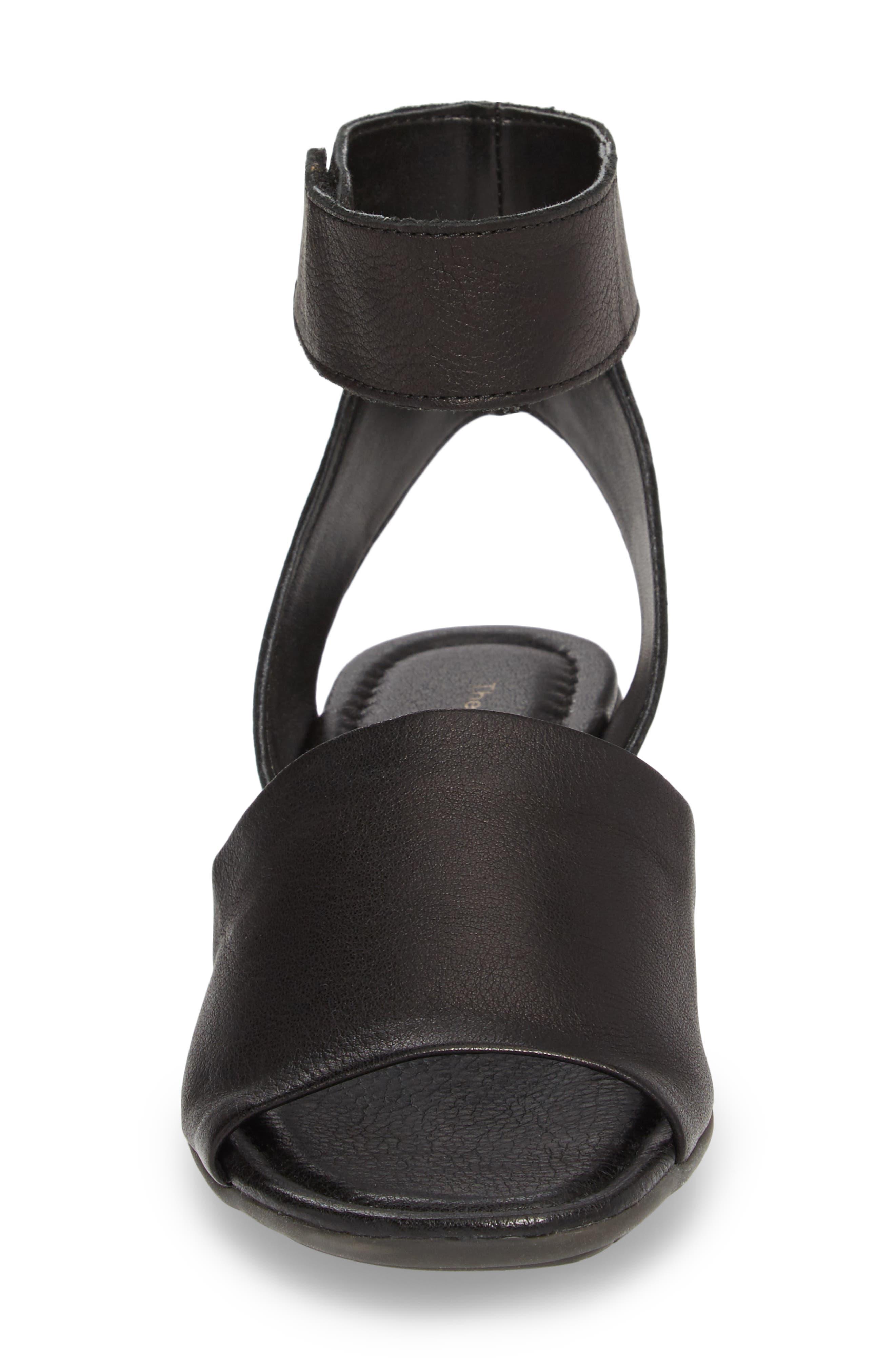 'Beglad' Leather Ankle Strap Sandal,                             Alternate thumbnail 4, color,                             Black Vachetta Leather