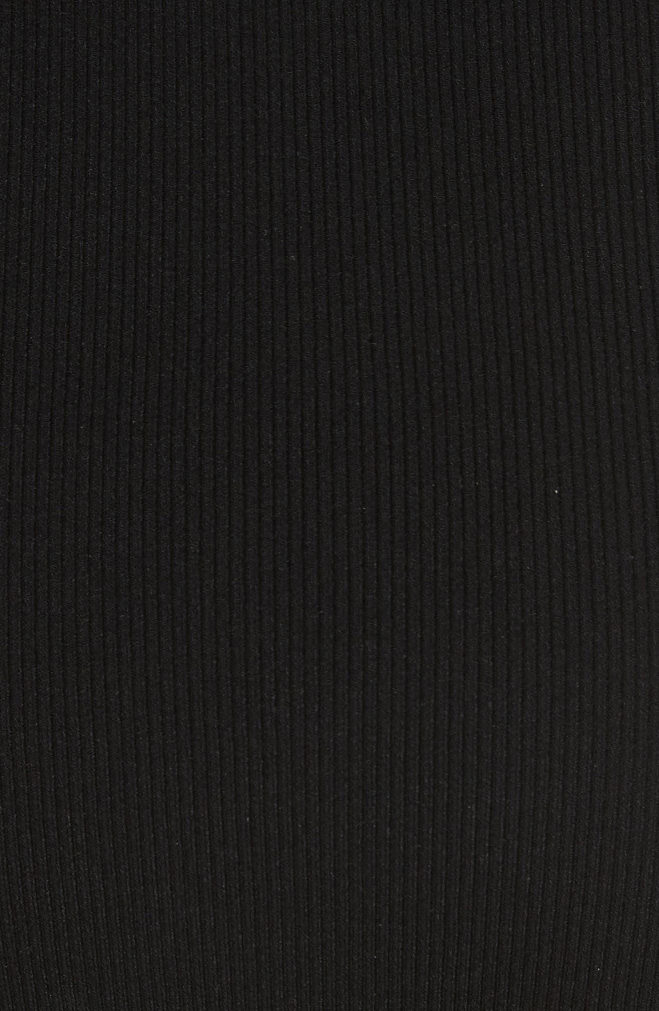 Kellam Ruffle Body-Con Dress,                             Alternate thumbnail 5, color,                             Black