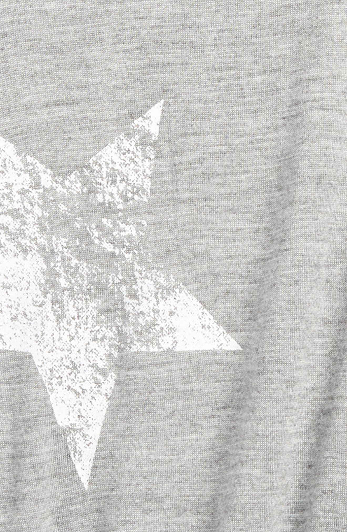 Star Print Knit Romper,                             Alternate thumbnail 2, color,                             Grey Mgrwst Stars Mgrwst