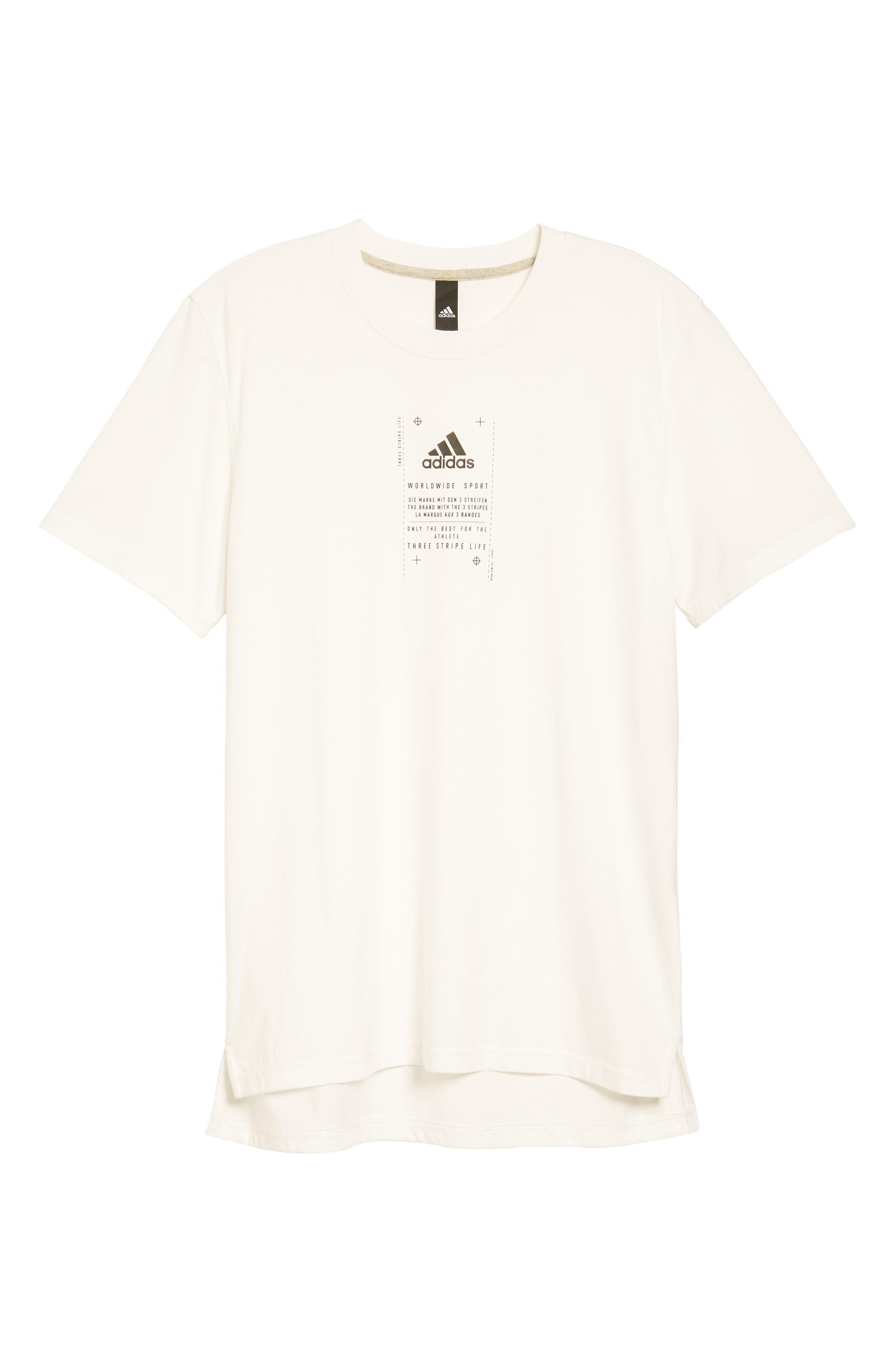 BOS Label T-Shirt,                             Alternate thumbnail 4, color,                             White / Black