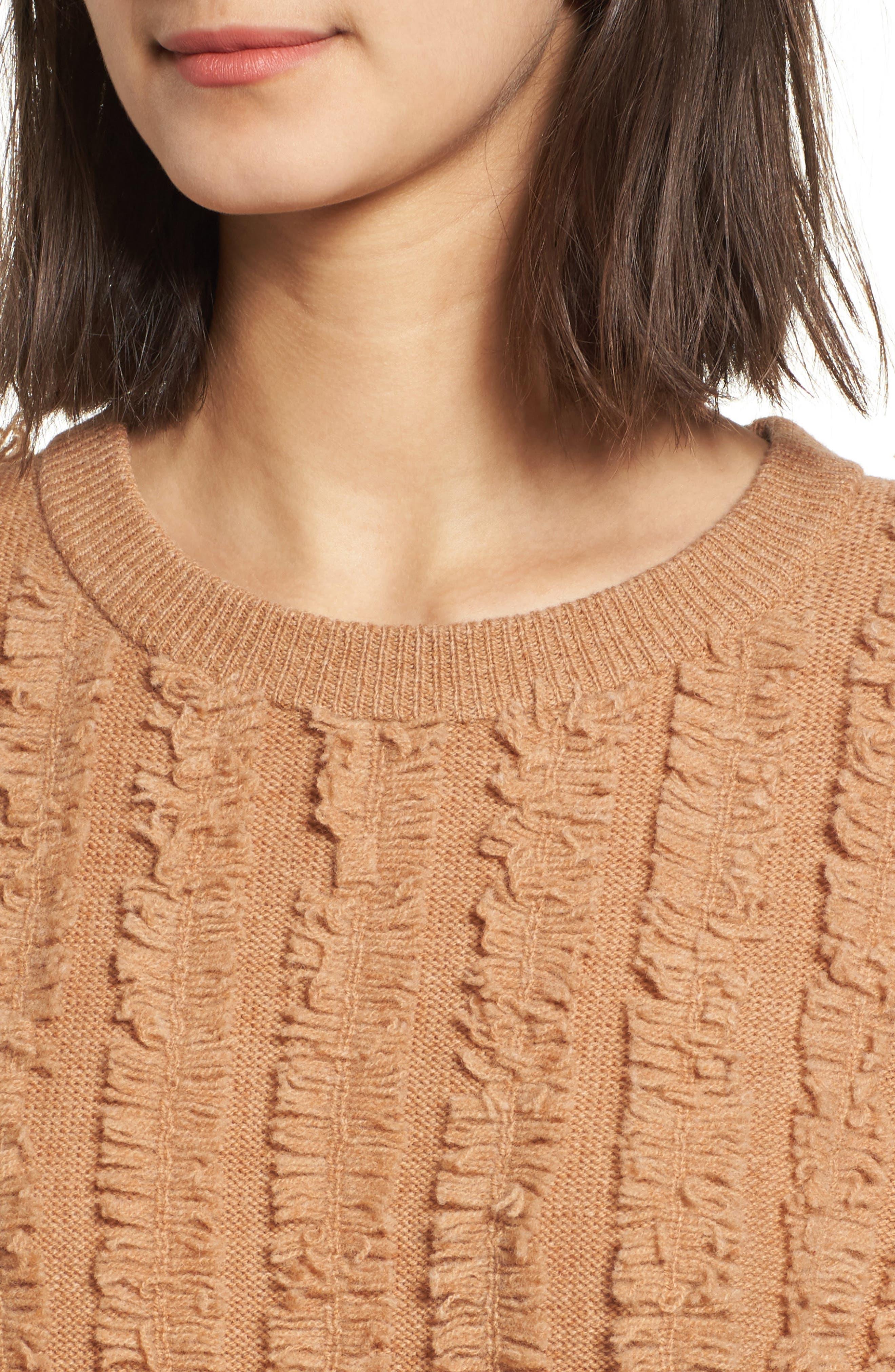 Alternate Image 4  - Madewell Fringe Stripe Pullover Sweater