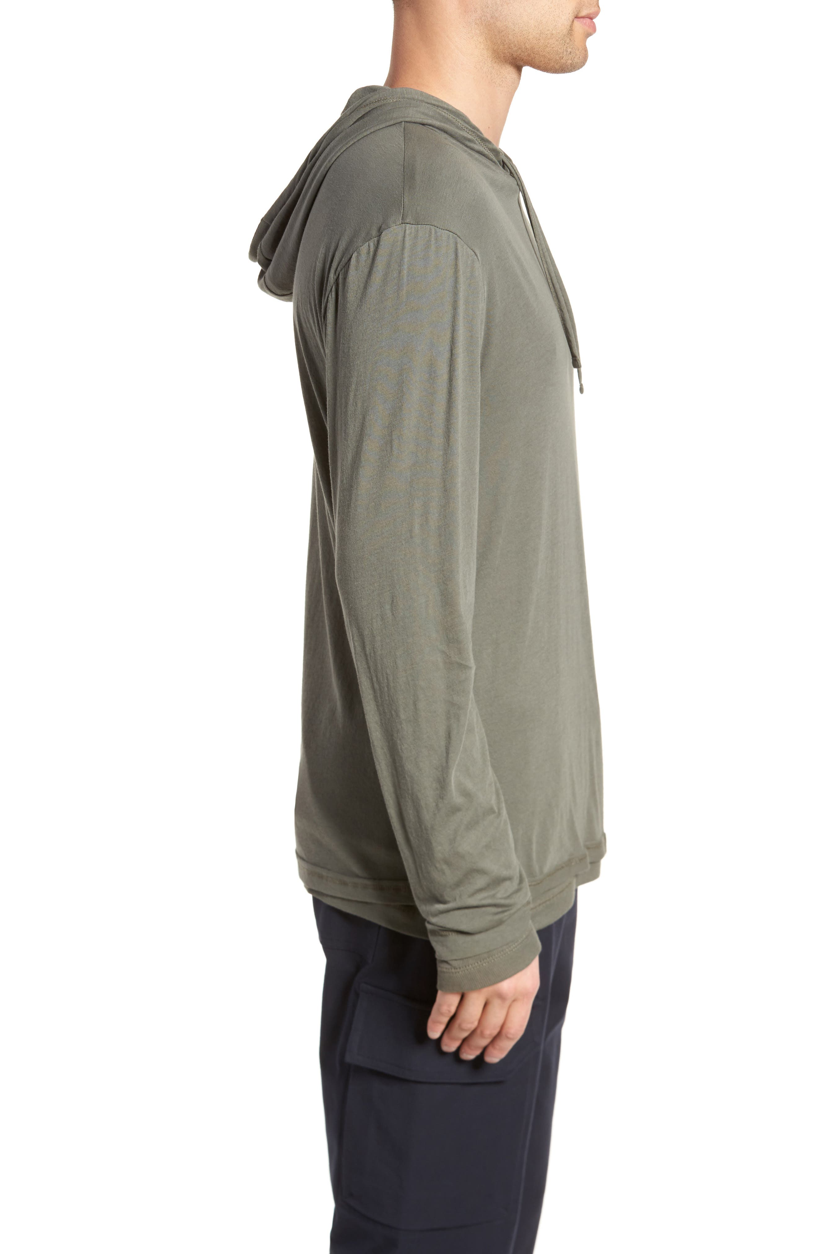 Double Layer Hoodie,                             Alternate thumbnail 3, color,                             Pine