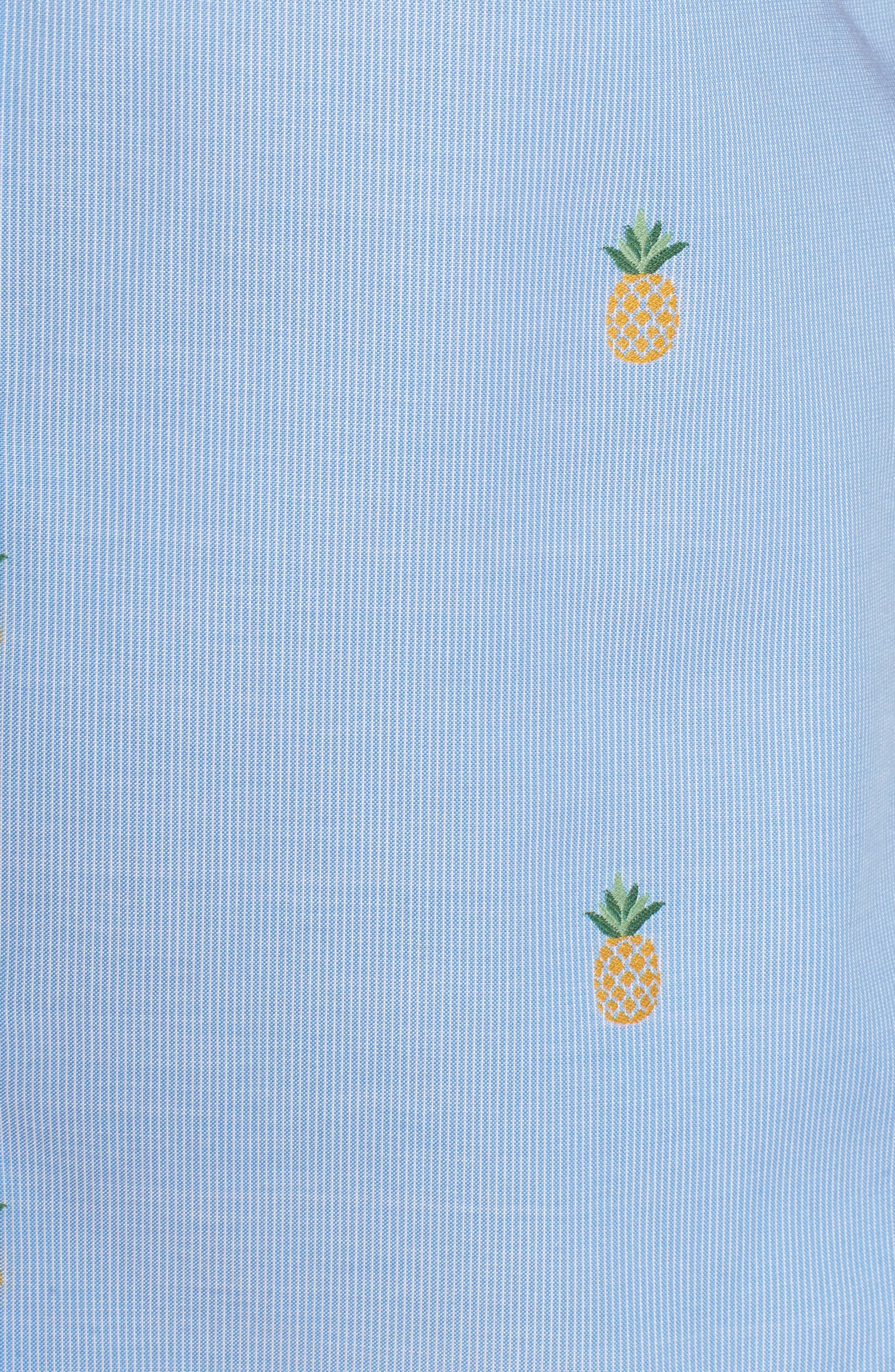 Dole 'N' Row Trim Fit Embroidered Sport Shirt,                             Alternate thumbnail 5, color,                             Blue