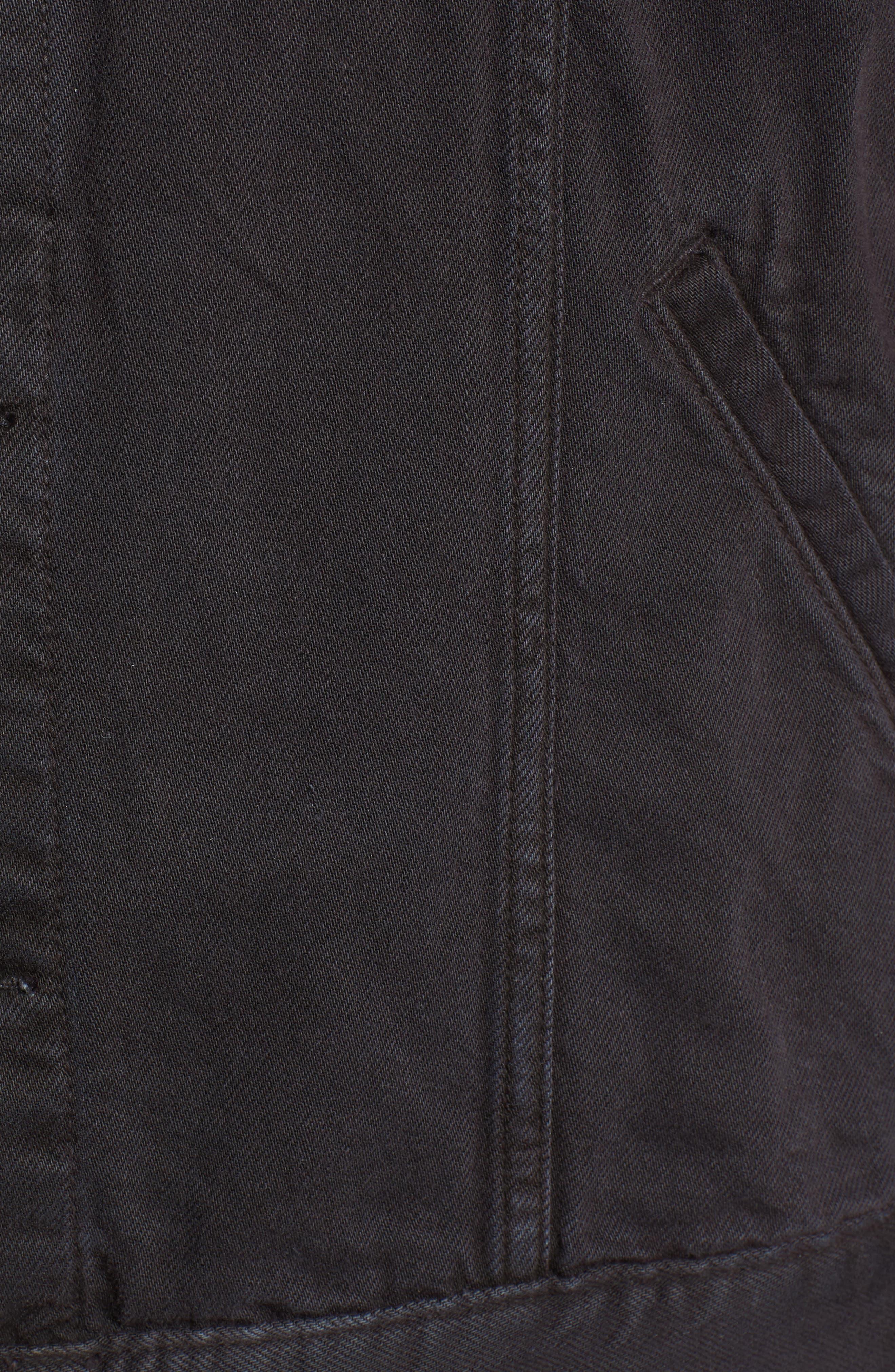 Scout Denim Jacket,                             Alternate thumbnail 5, color,                             Vintage Raven