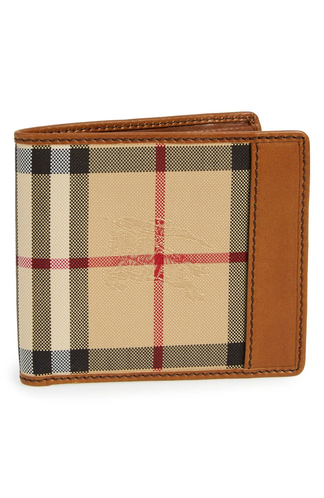 Horseferry Check Billfold Wallet,                         Main,                         color, Tan