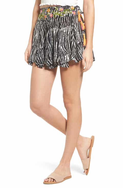 Raga Before Dawn Embroidered Miniskirt