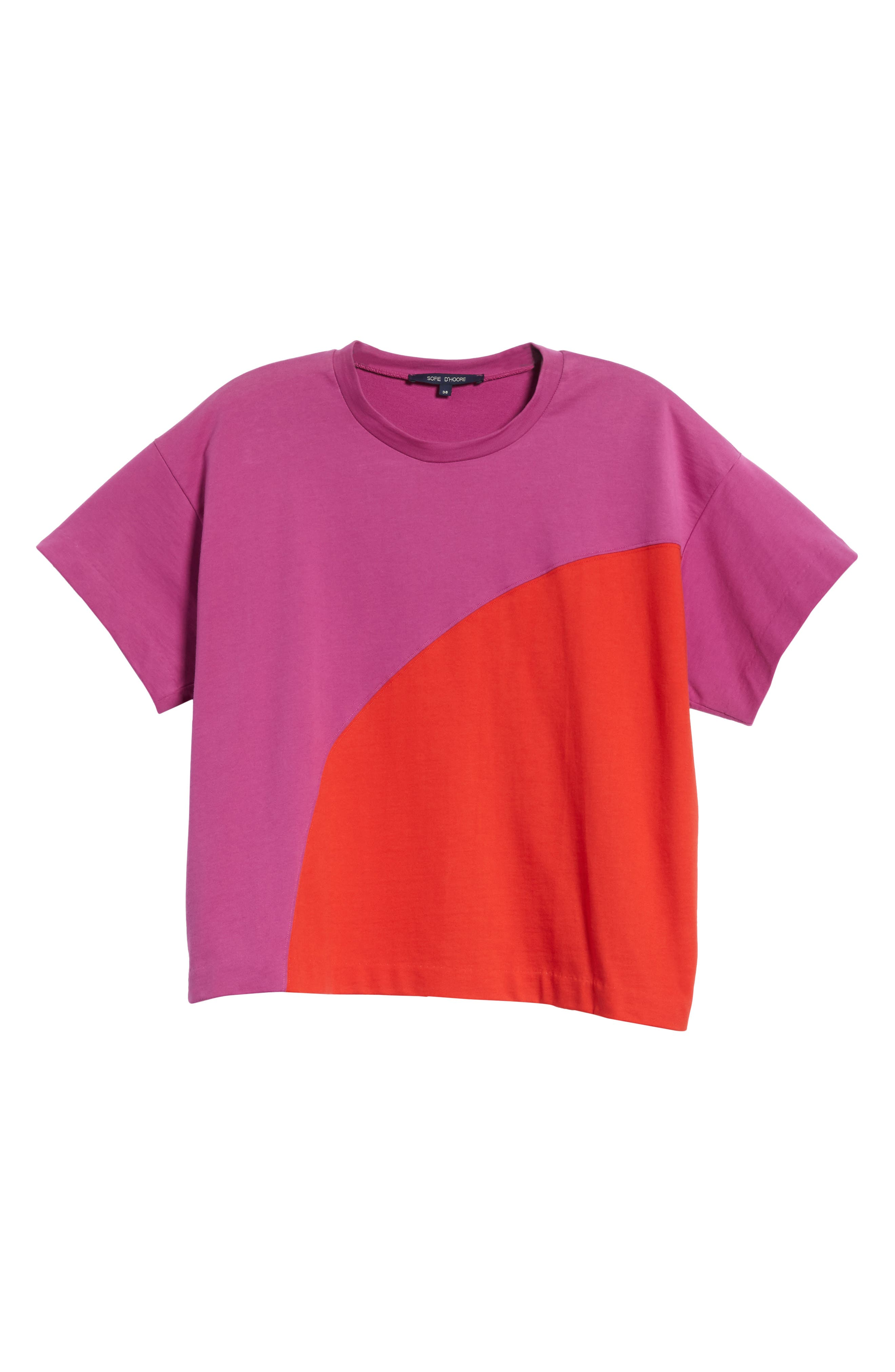Colorblock Tee,                             Alternate thumbnail 6, color,                             1Red/Violet