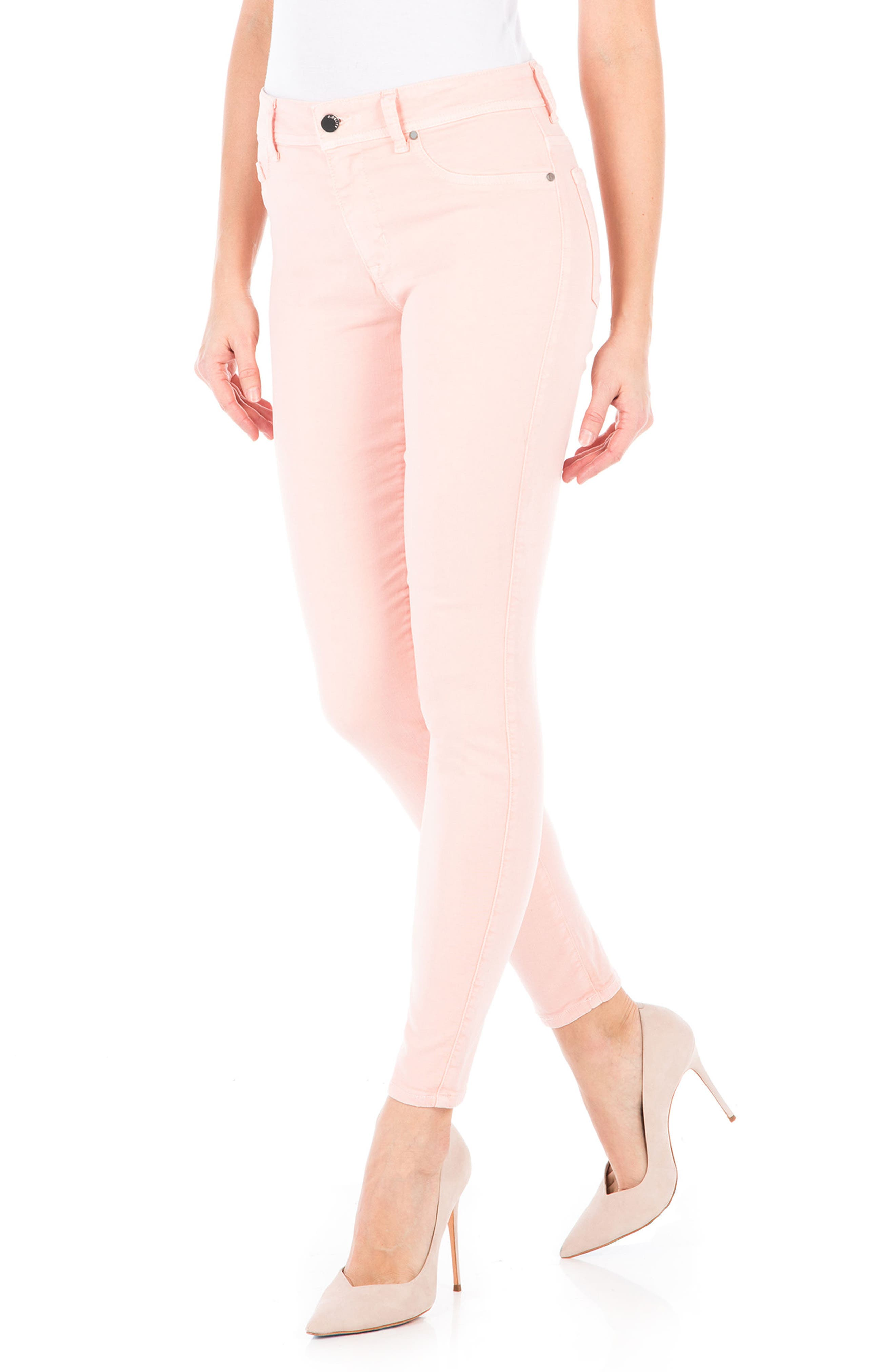 Alternate Image 3  - Fidelity Denim Sola Skinny Jeans (Dusty Rose)