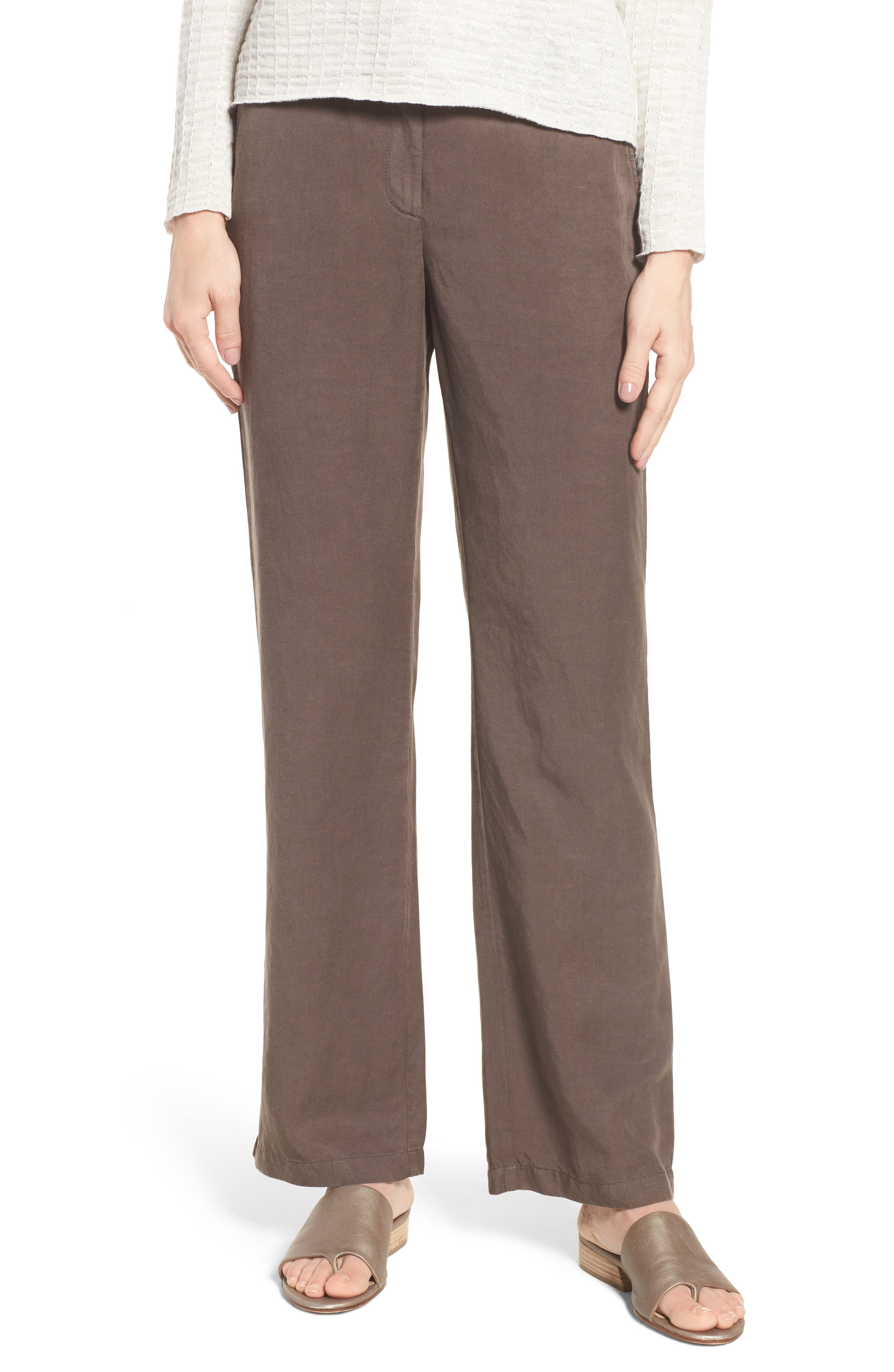 Eileen Fisher Straight Leg Pants (Regular & Petite)