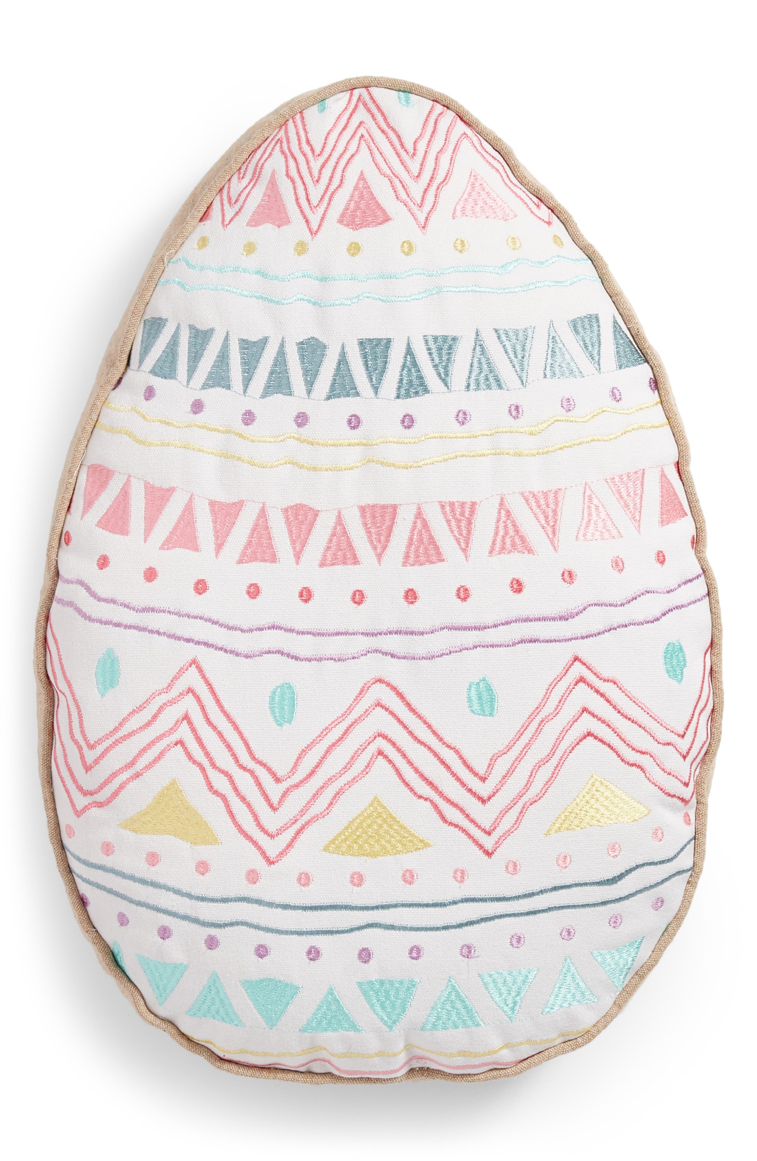 Egg Accent Pillow,                             Main thumbnail 1, color,                             White