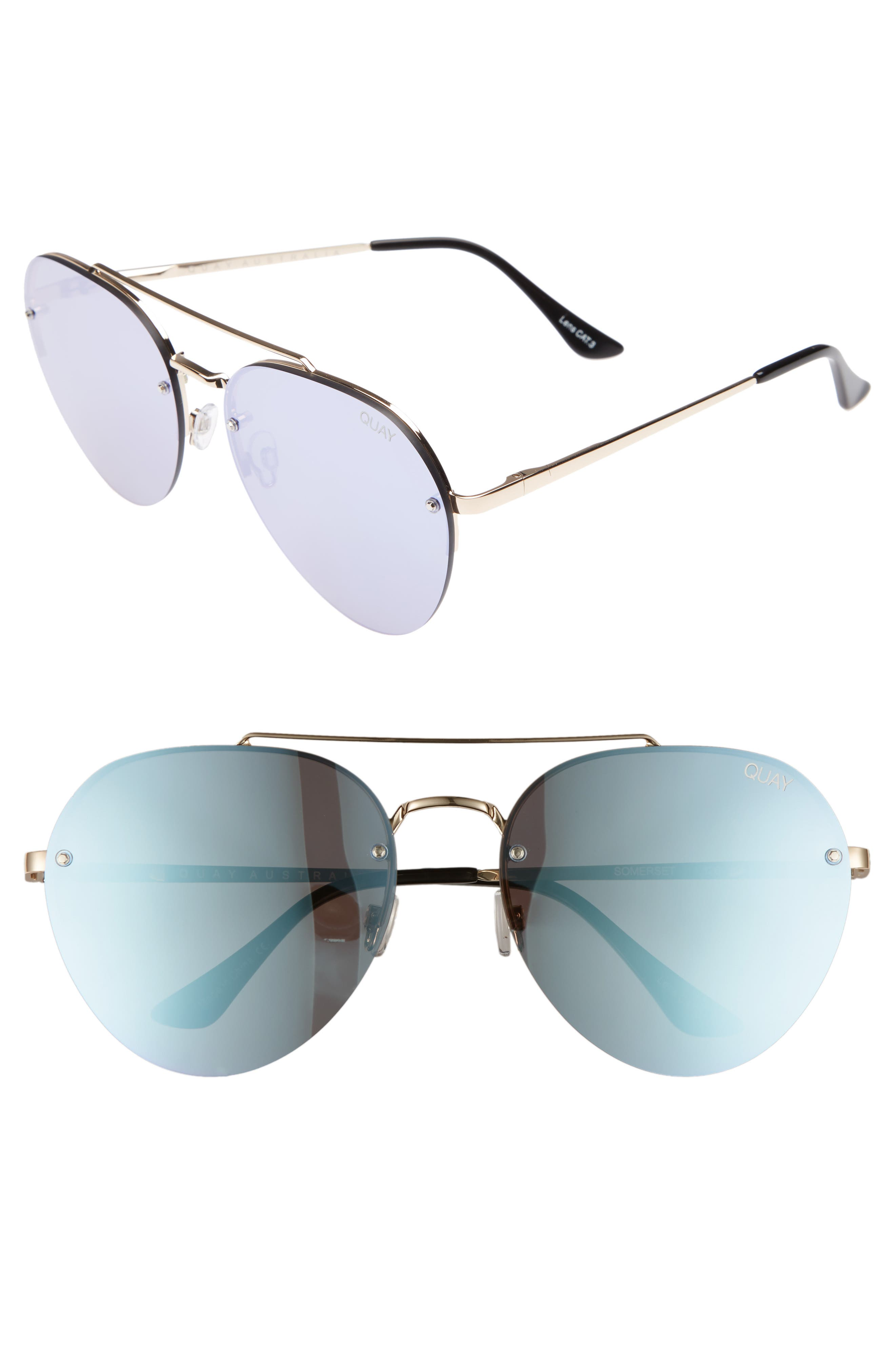 Quay Australia Somerset 65mm Aviator Sunglasses