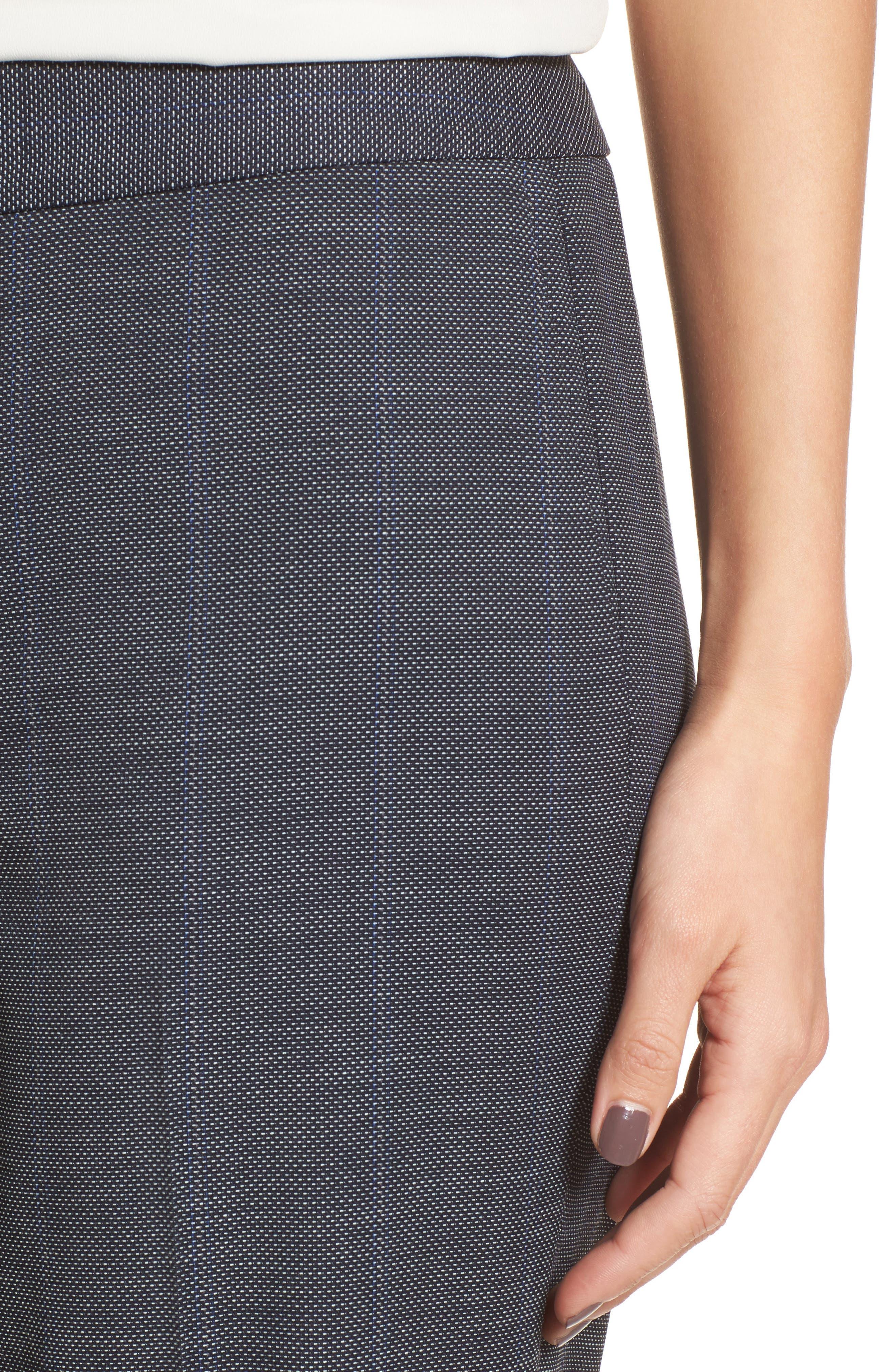 Cross Dye Suit Pants,                             Alternate thumbnail 4, color,                             Navy Crossdye Pattern