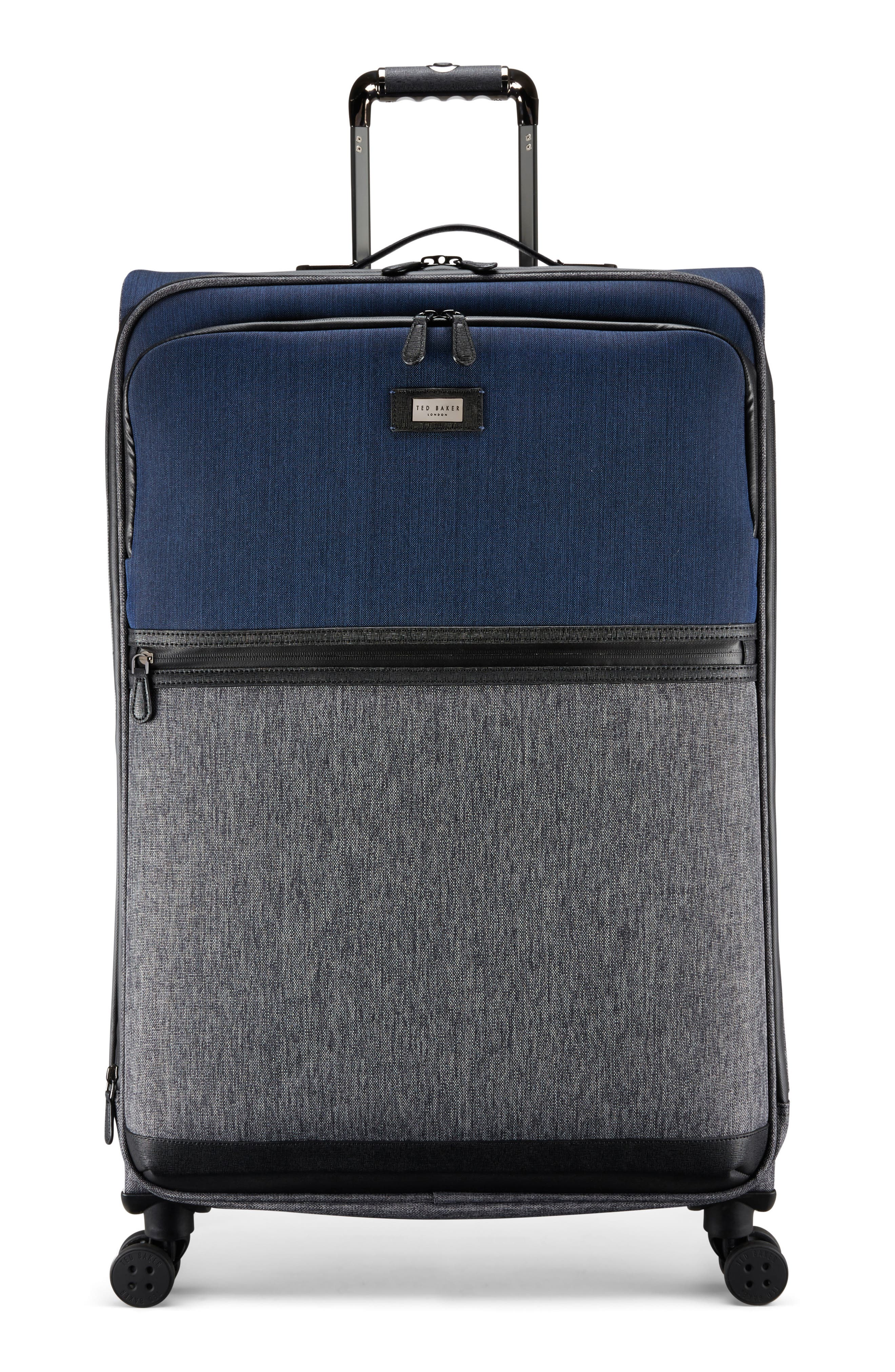 Large Brunswick 32-Inch Rolling Suitcase,                         Main,                         color, Grey