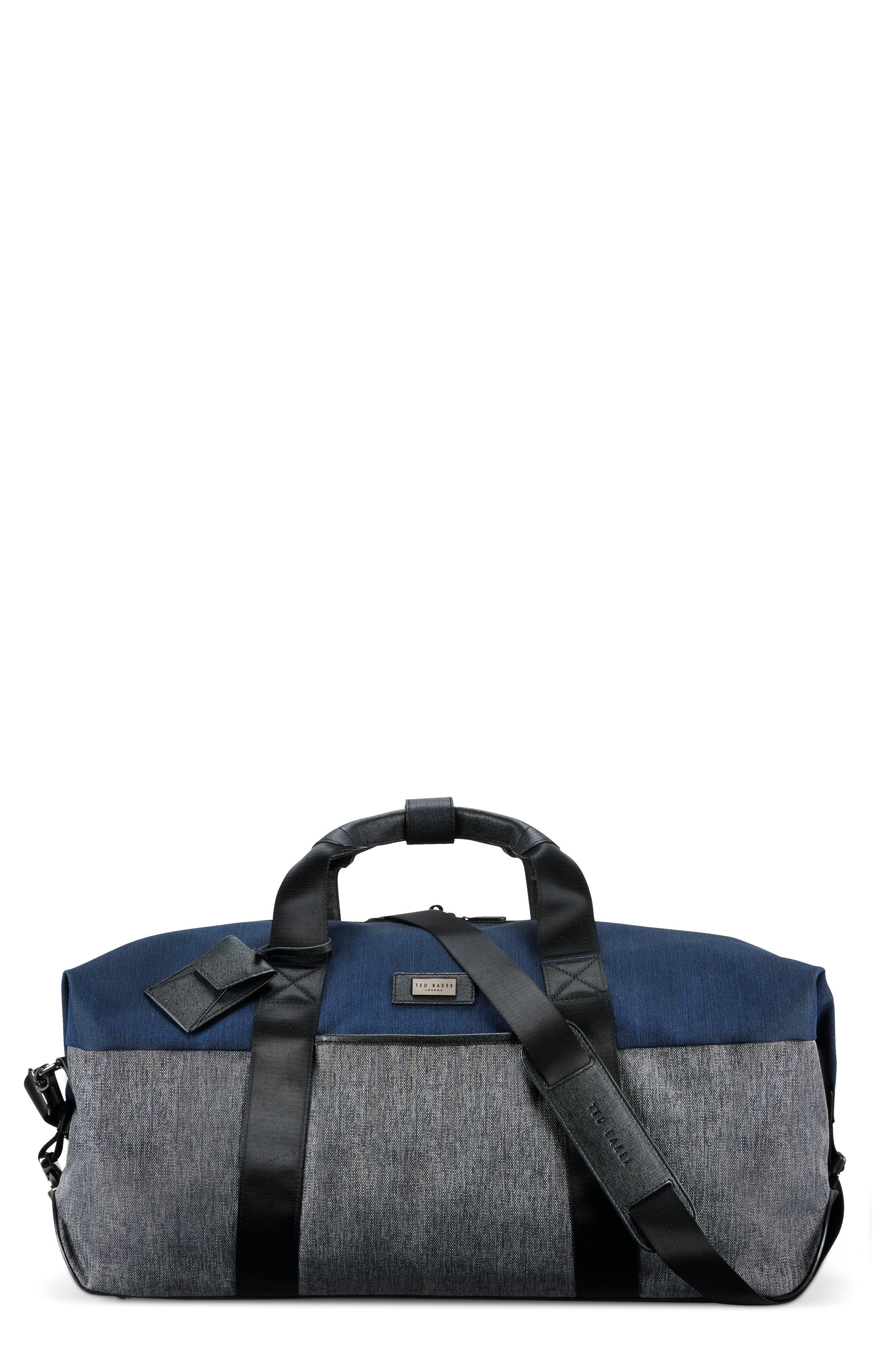 Medium Brunswick Water Resistant Duffel Bag,                             Main thumbnail 1, color,                             Grey