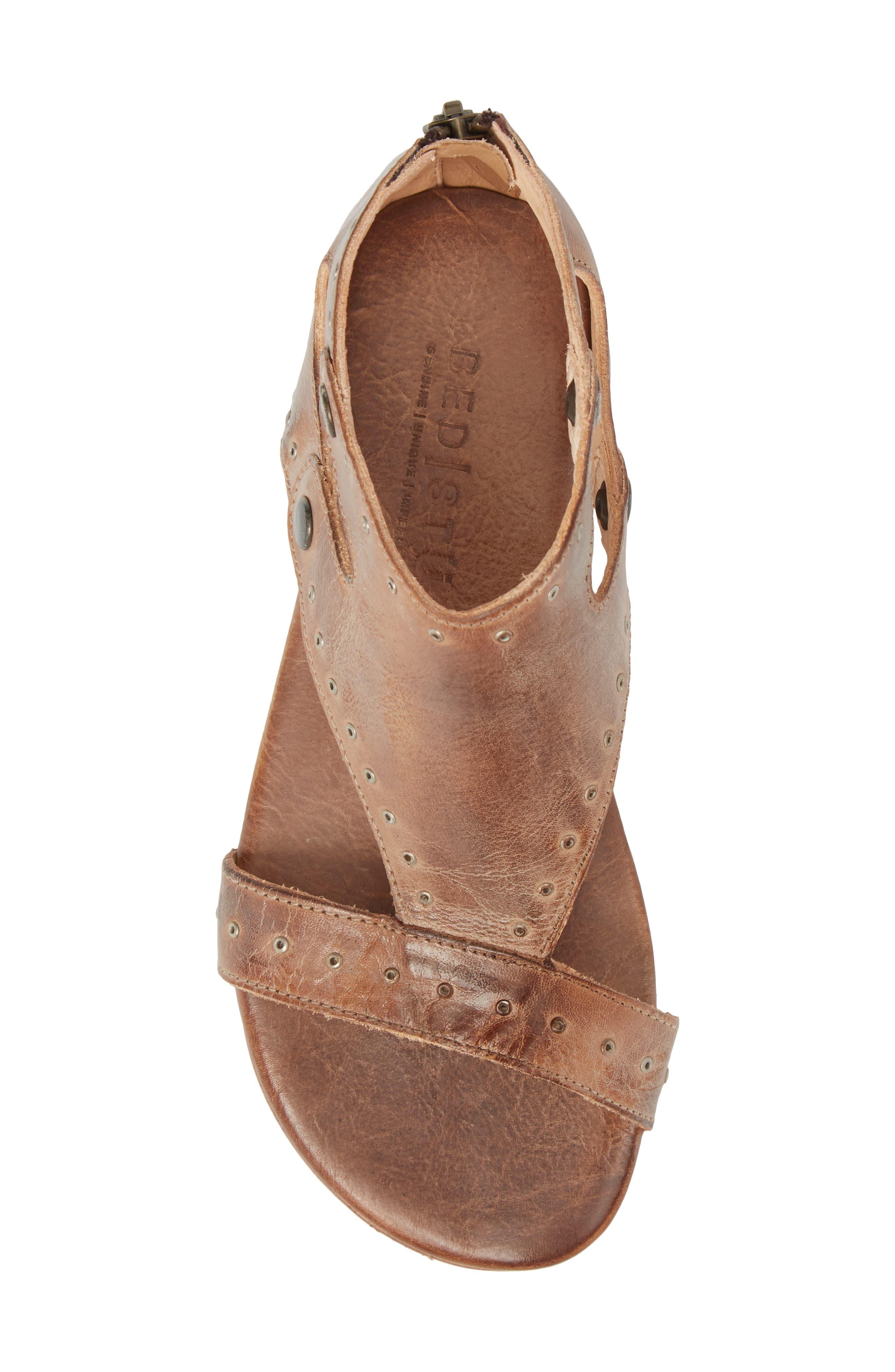 Soto G V-Strap Sandal,                             Alternate thumbnail 5, color,                             Tan Mason Leather