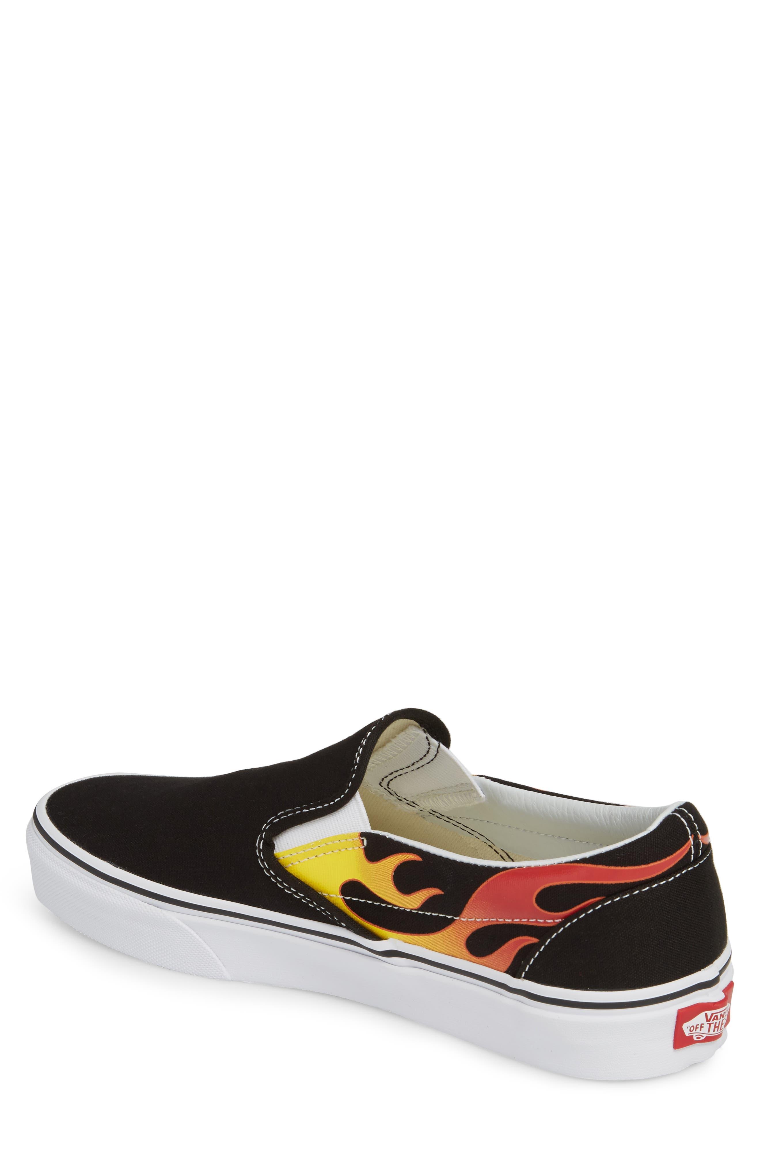 UA Classic Slip-On Sneaker,                             Alternate thumbnail 2, color,                             Black/ Black/ True White
