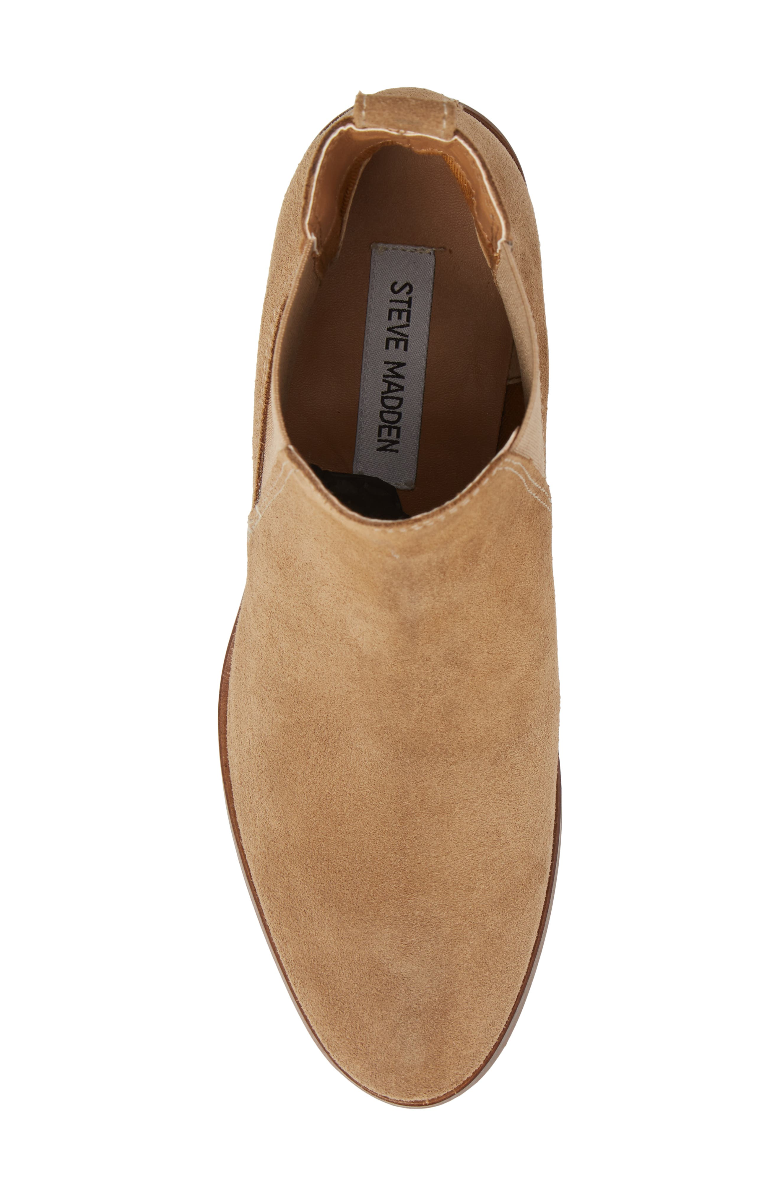 Dover Chelsea Bootie,                             Alternate thumbnail 5, color,                             Taupe Suede