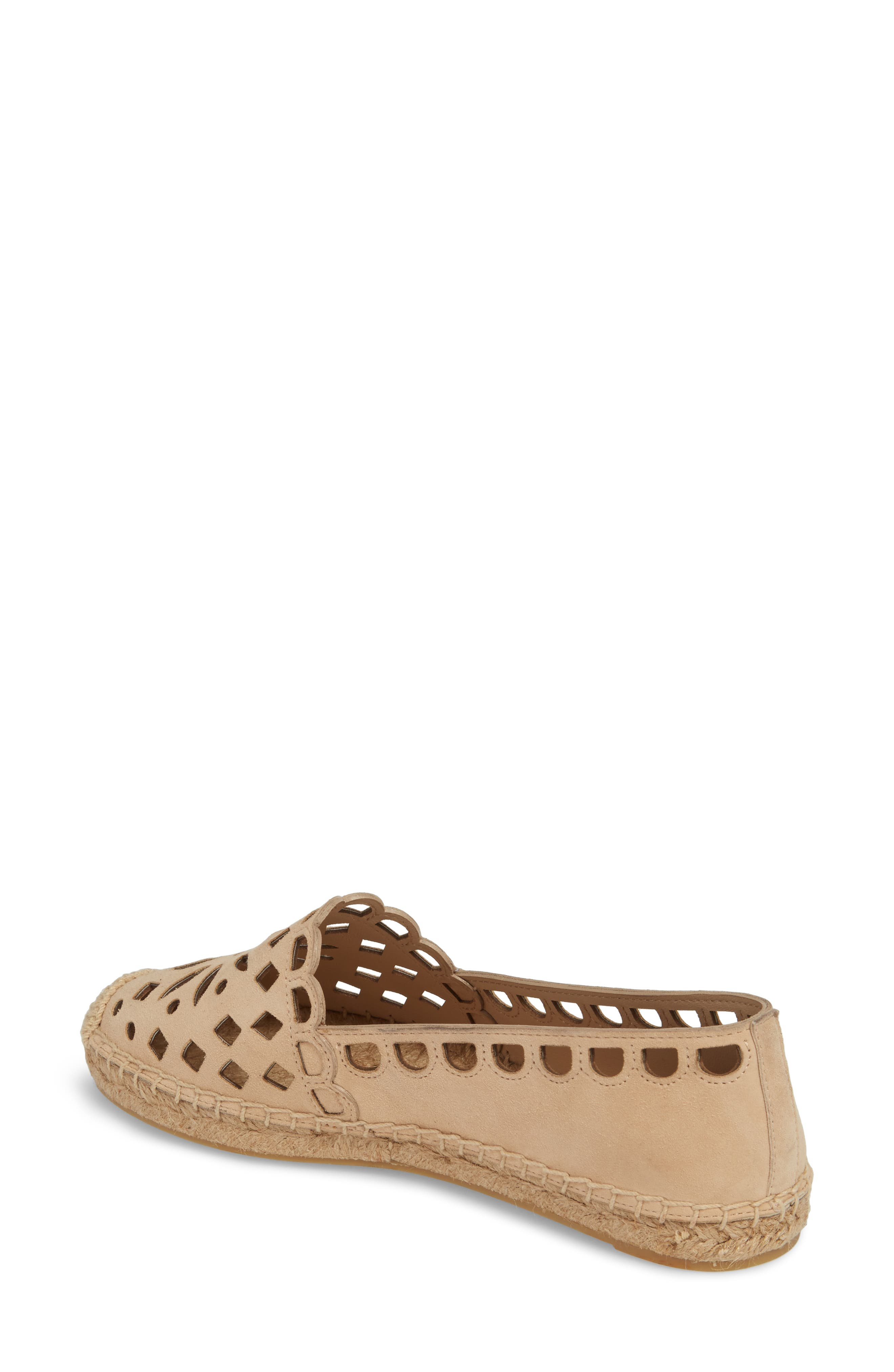 May Perforated Espadrille Flat,                             Alternate thumbnail 2, color,                             Desert Blush