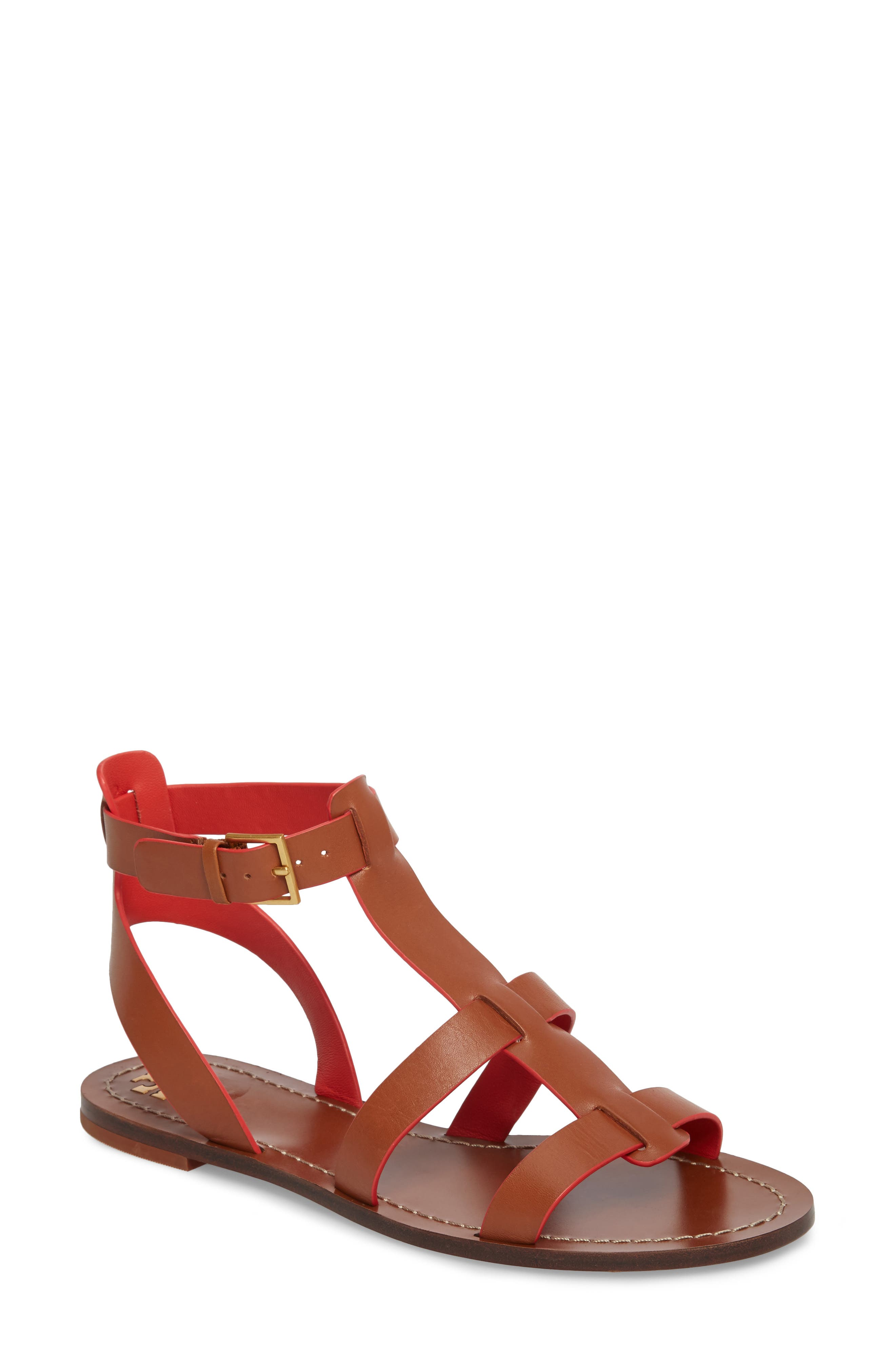 Patos Gladiator Sandal,                         Main,                         color, Perfect Cuoio